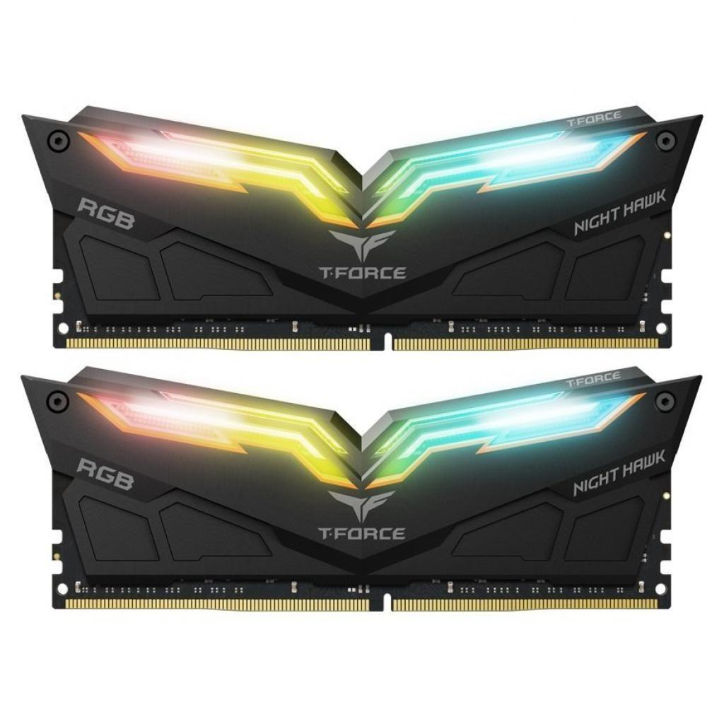 Модуль памяти для компьютера DDR4 16GB (2x8GB) 3000 MHz T-Force Night Hawk RGB Black Team (TF1D416G3000HC16CDC0)