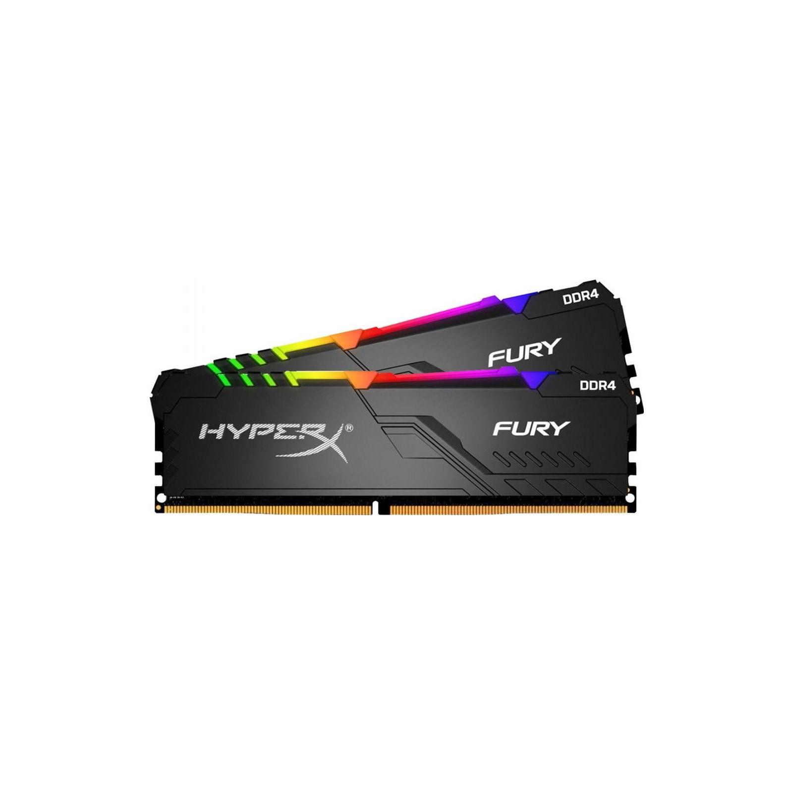 Модуль памяти для компьютера DDR4 16GB (2x8GB) 3200 MHz HyperX FURY RGB Kingston (HX432C16FB3AK2/16) изображение 2