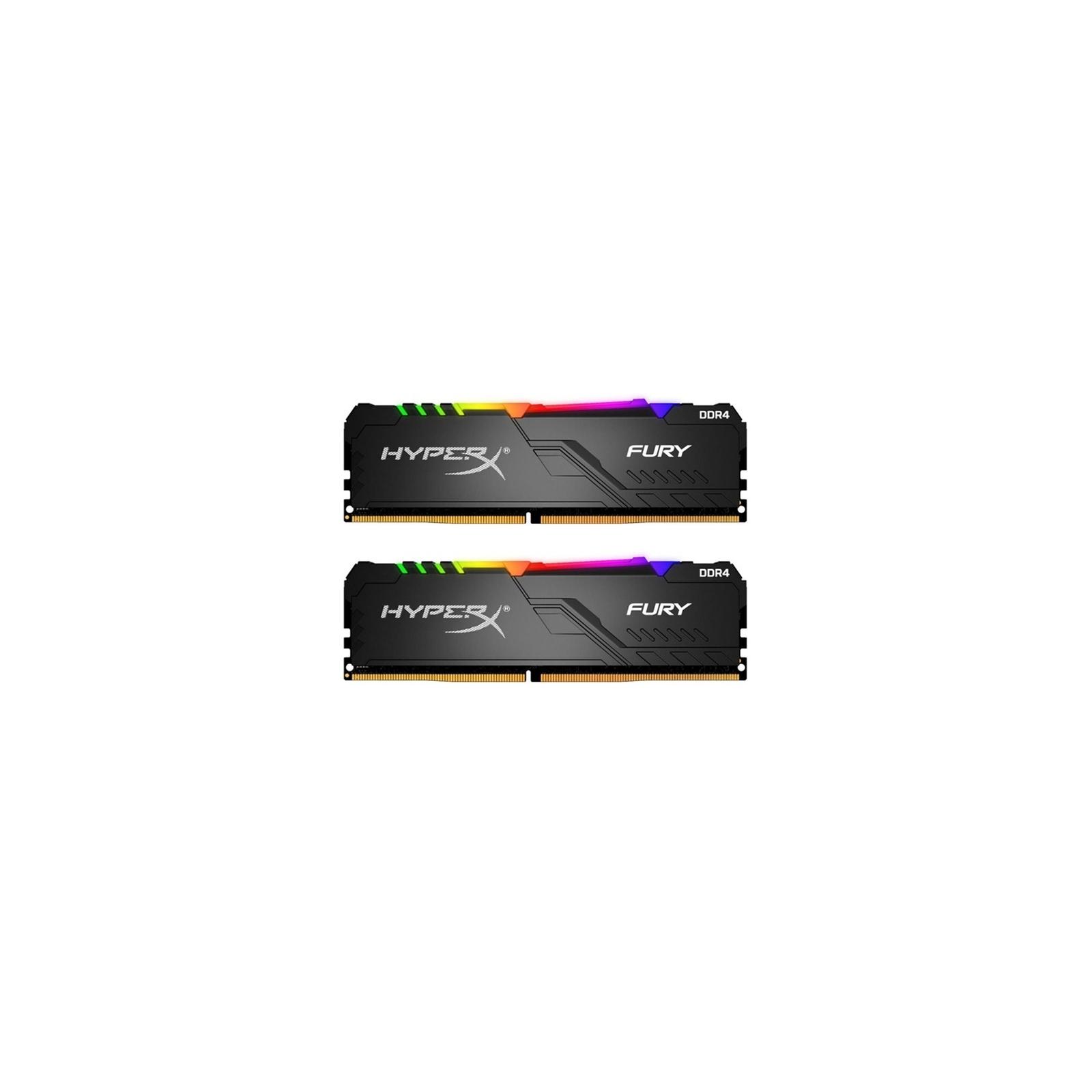 Модуль памяти для компьютера DDR4 16GB (2x8GB) 3200 MHz HyperX FURY RGB Kingston (HX432C16FB3AK2/16)