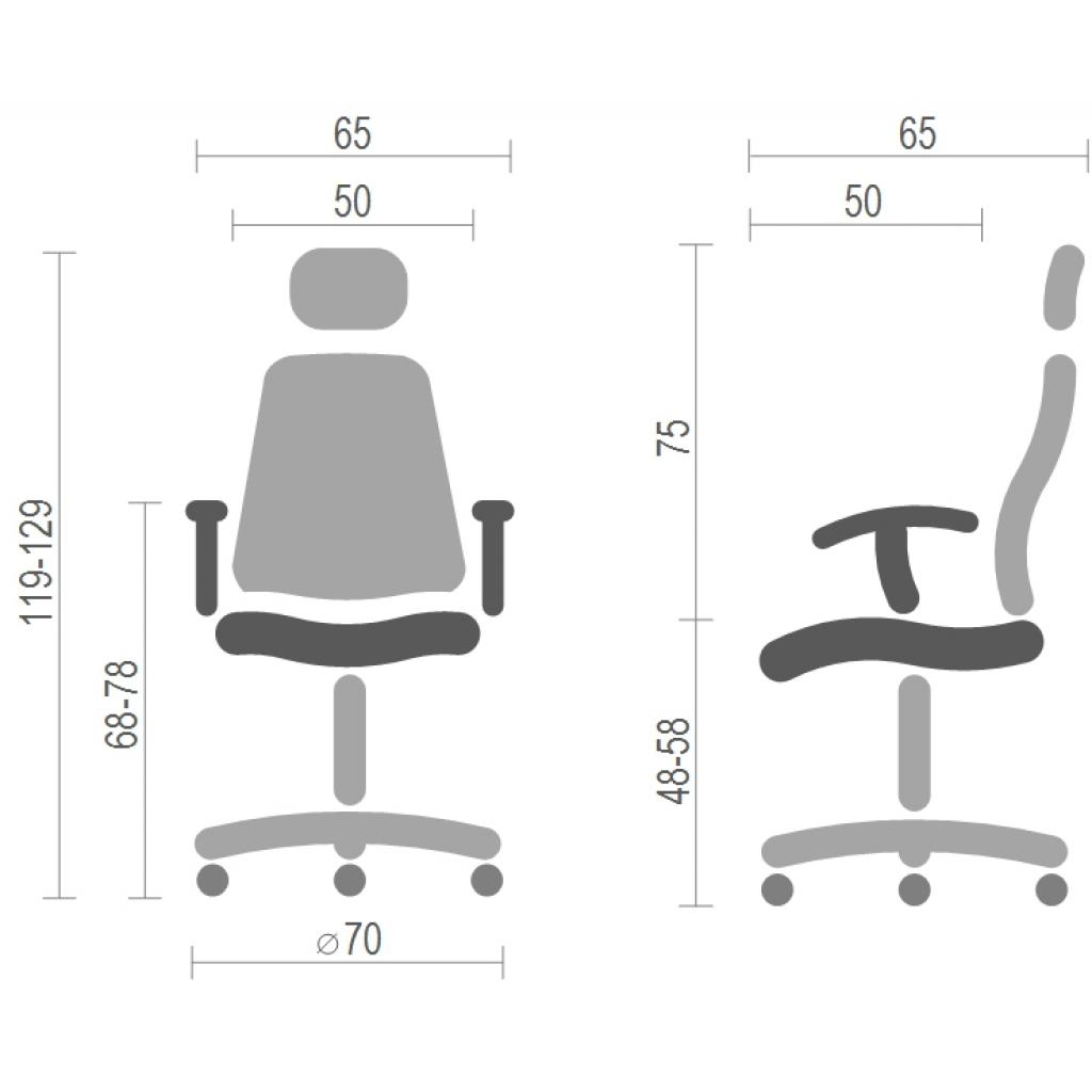 Офисное кресло Аклас Сити CH ANF Синее (15993) изображение 6