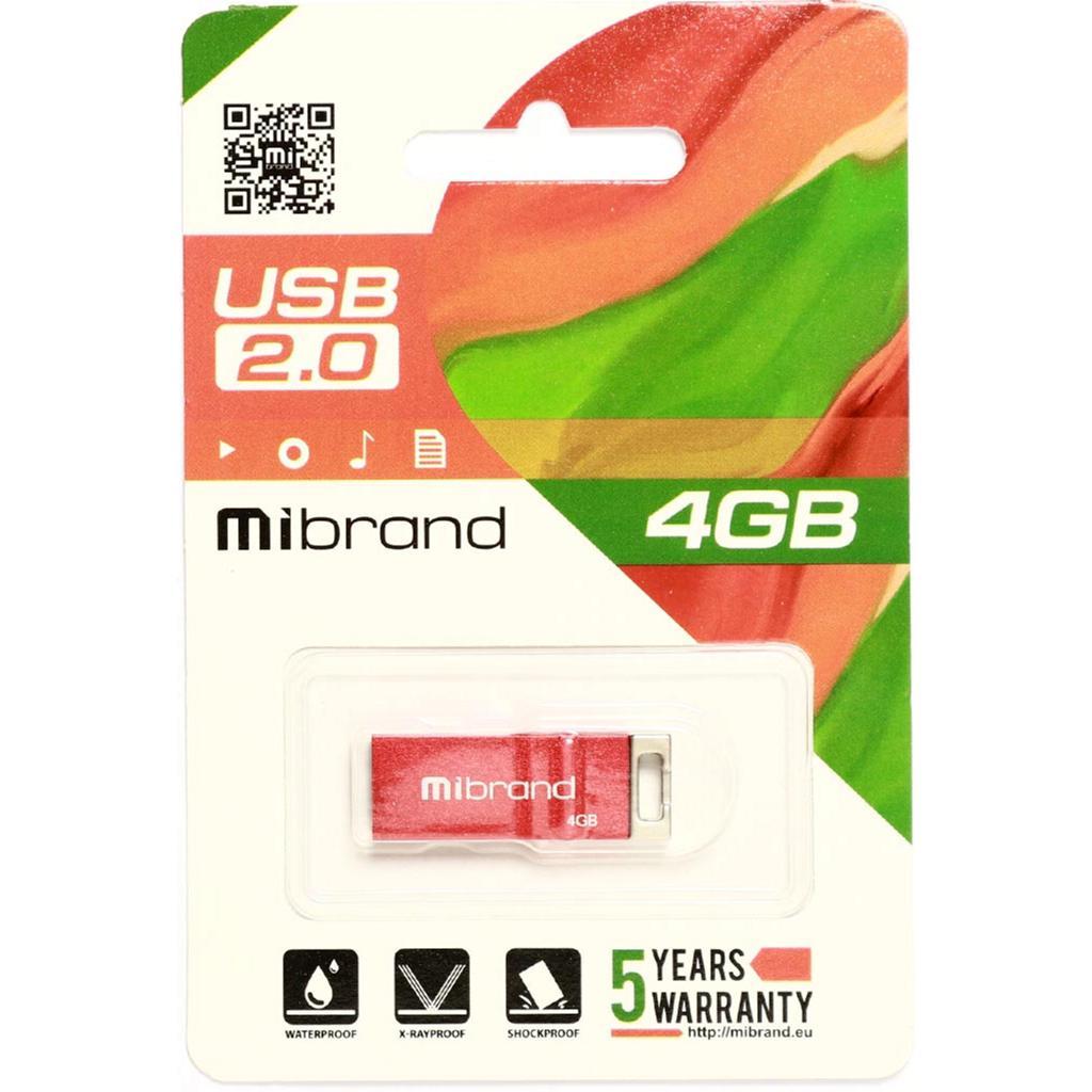 USB флеш накопитель Mibrand 4GB Сhameleon Black USB 2.0 (MI2.0/CH4U6B) изображение 2