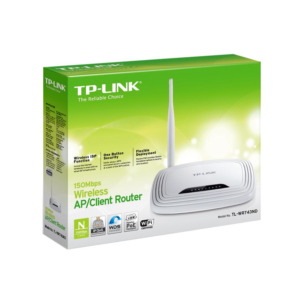 Маршрутизатор TP-Link TL-WR743ND изображение 5