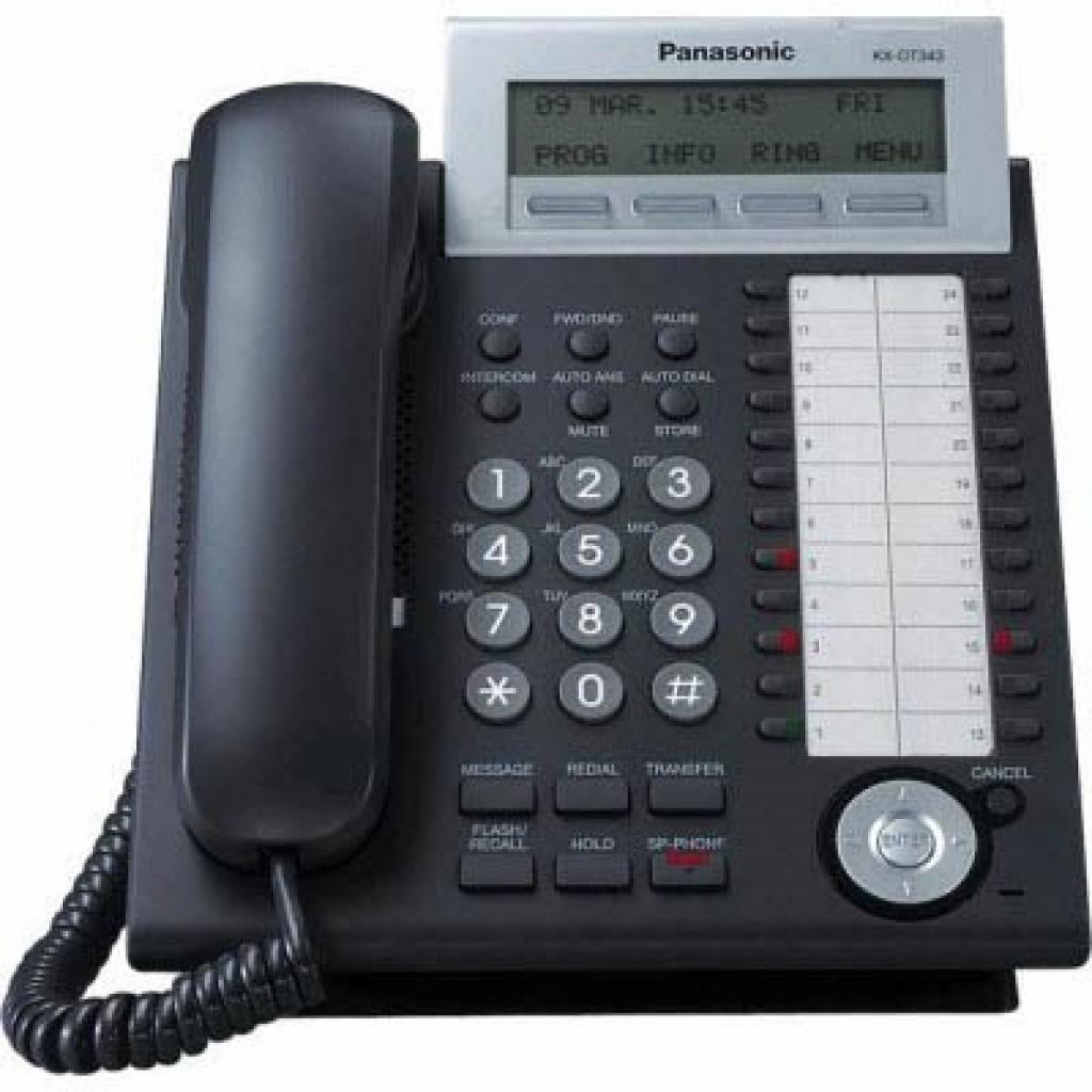 Телефон PANASONIC KX-DT343UA-B