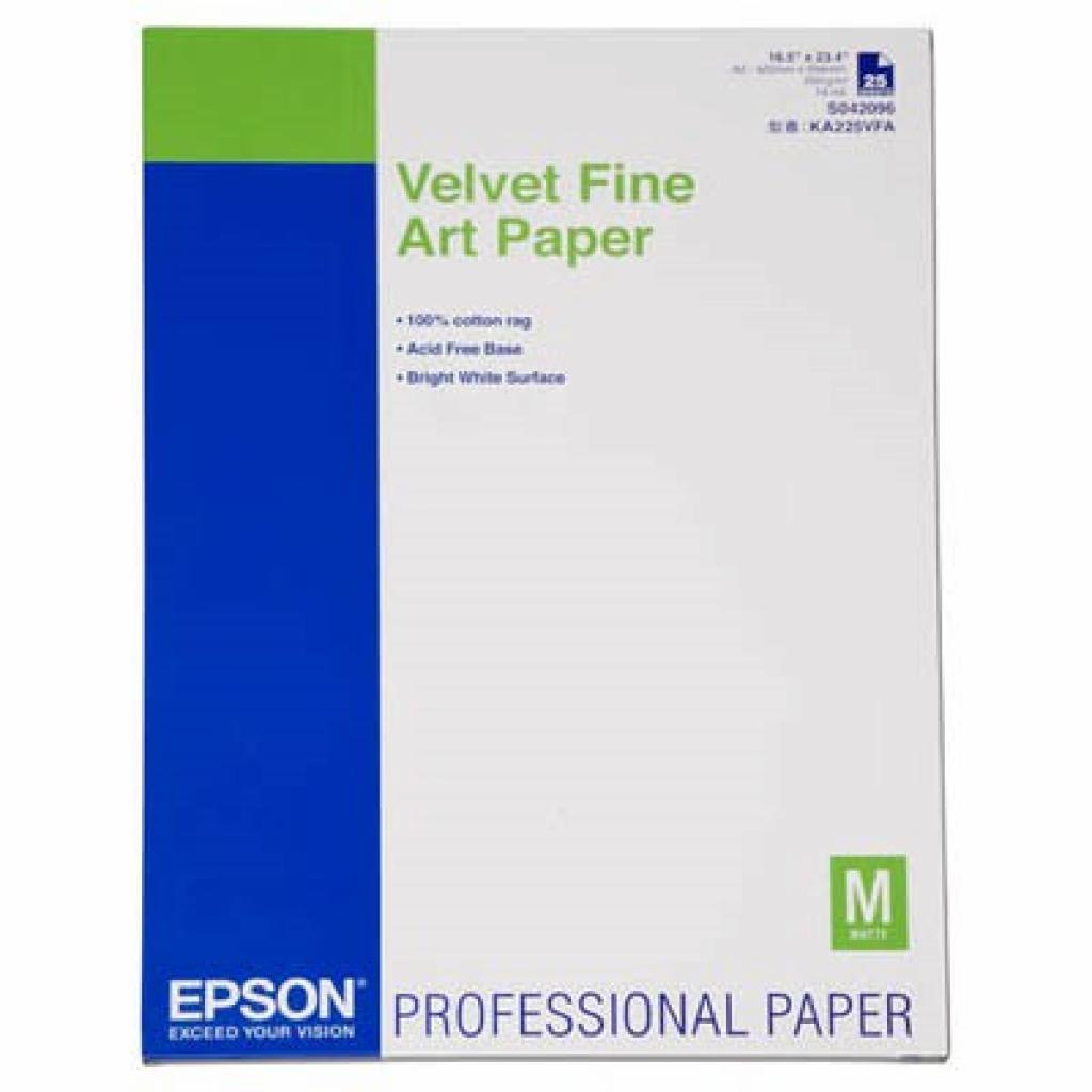 Бумага EPSON A2 Velvet Fine Art Paper (C13S042096)