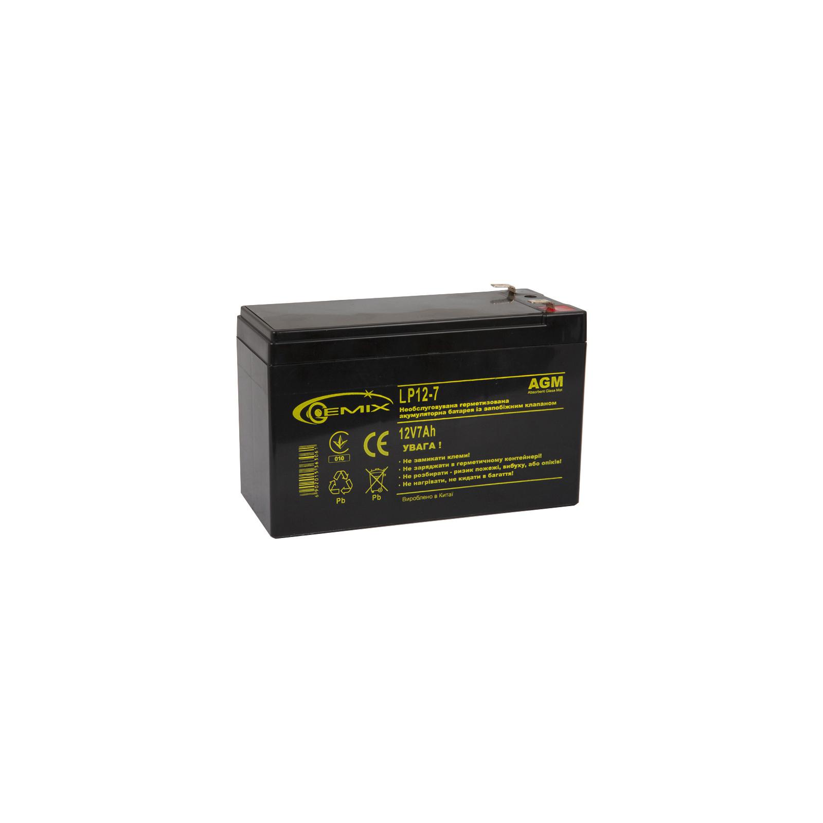 Батарея к ИБП 12В 7 Ач GEMIX (LP12-7)