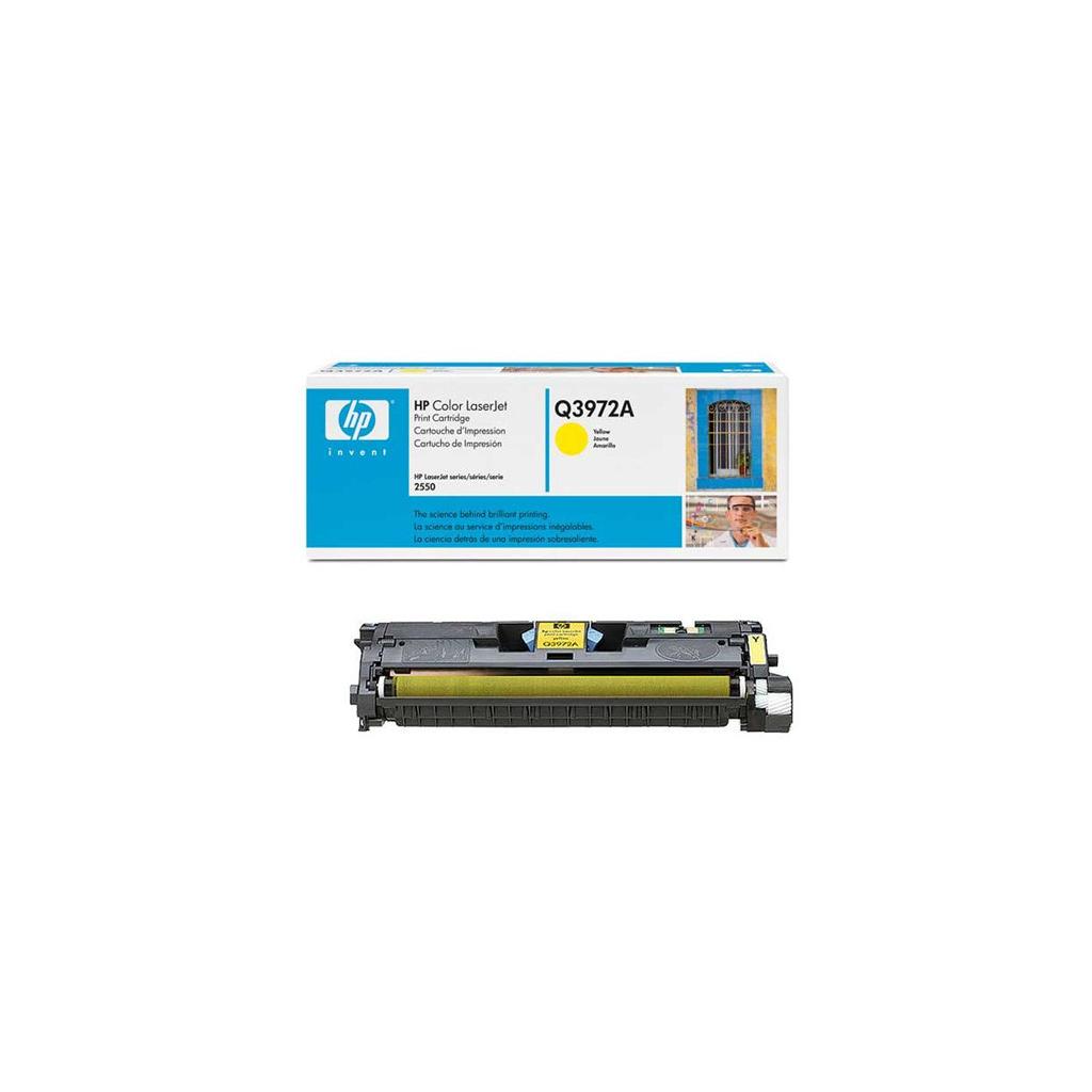 Картридж HP CLJ  123A для 2550 (2K) yellow (Q3972A)