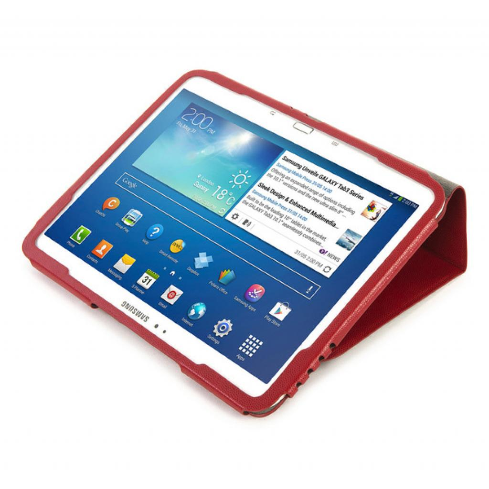 Чехол для планшета Tucano Galaxy Tab 3 10.1 Leggero Red (TAB-LS310-R) изображение 6