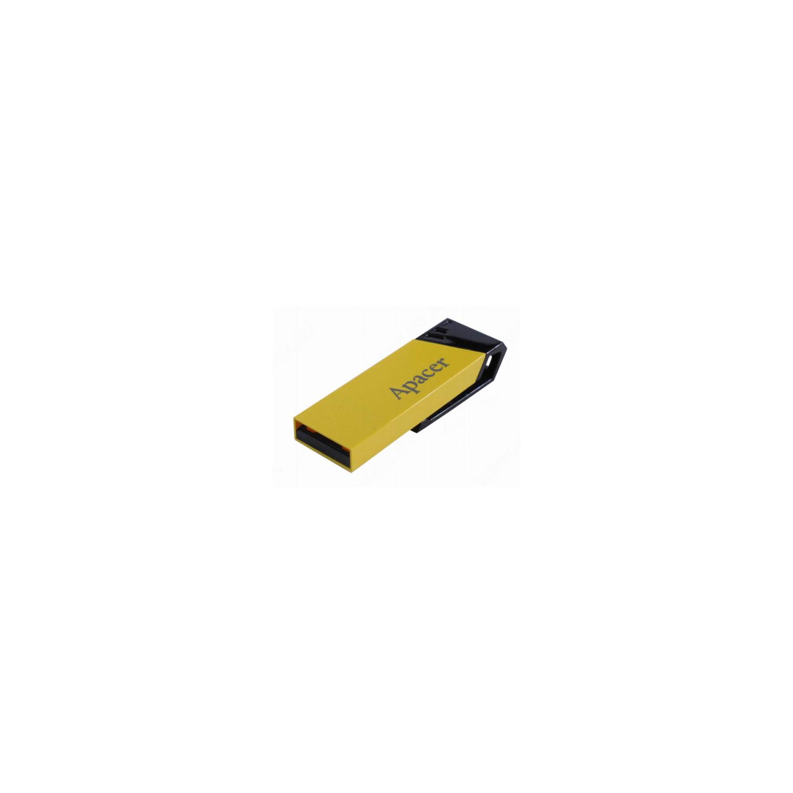 USB флеш накопитель 8GB AH131 Yellow RP USB2.0 Apacer (AP8GAH131Y-1) изображение 5