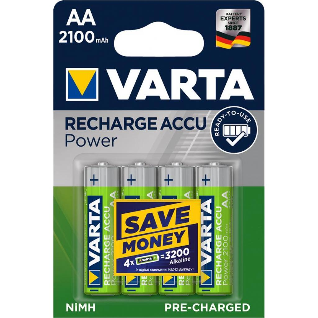 Аккумулятор Varta AA Long Life Accu 2100mAh * 4 NI-MH (READY 2 USE) (56706101404)