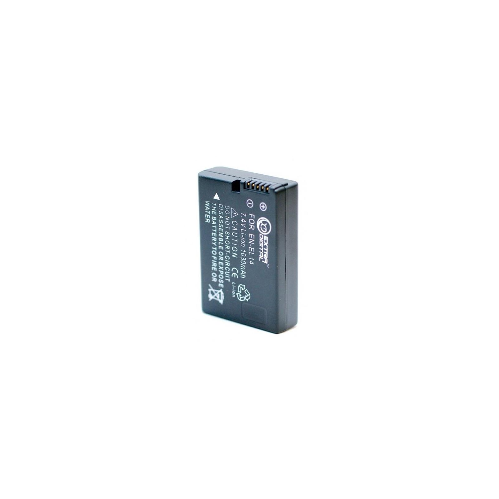 Аккумулятор к фото/видео EXTRADIGITAL Nikon EN-EL14 (DV00DV1329) изображение 2
