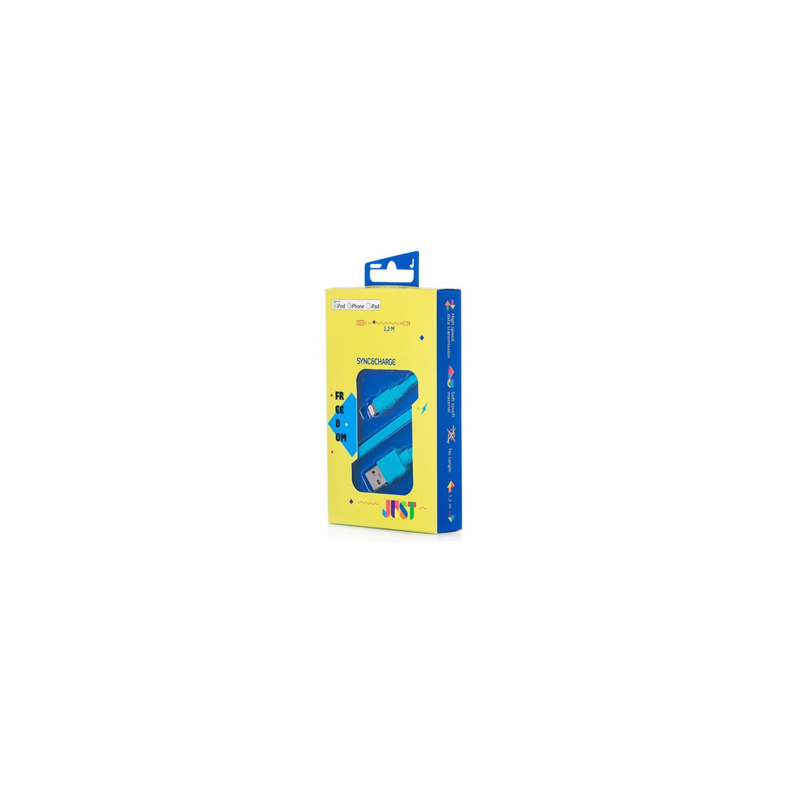 Дата кабель JUST Freedom Lightning USB Cable Blue (LGTNG-FRDM-BL) изображение 3
