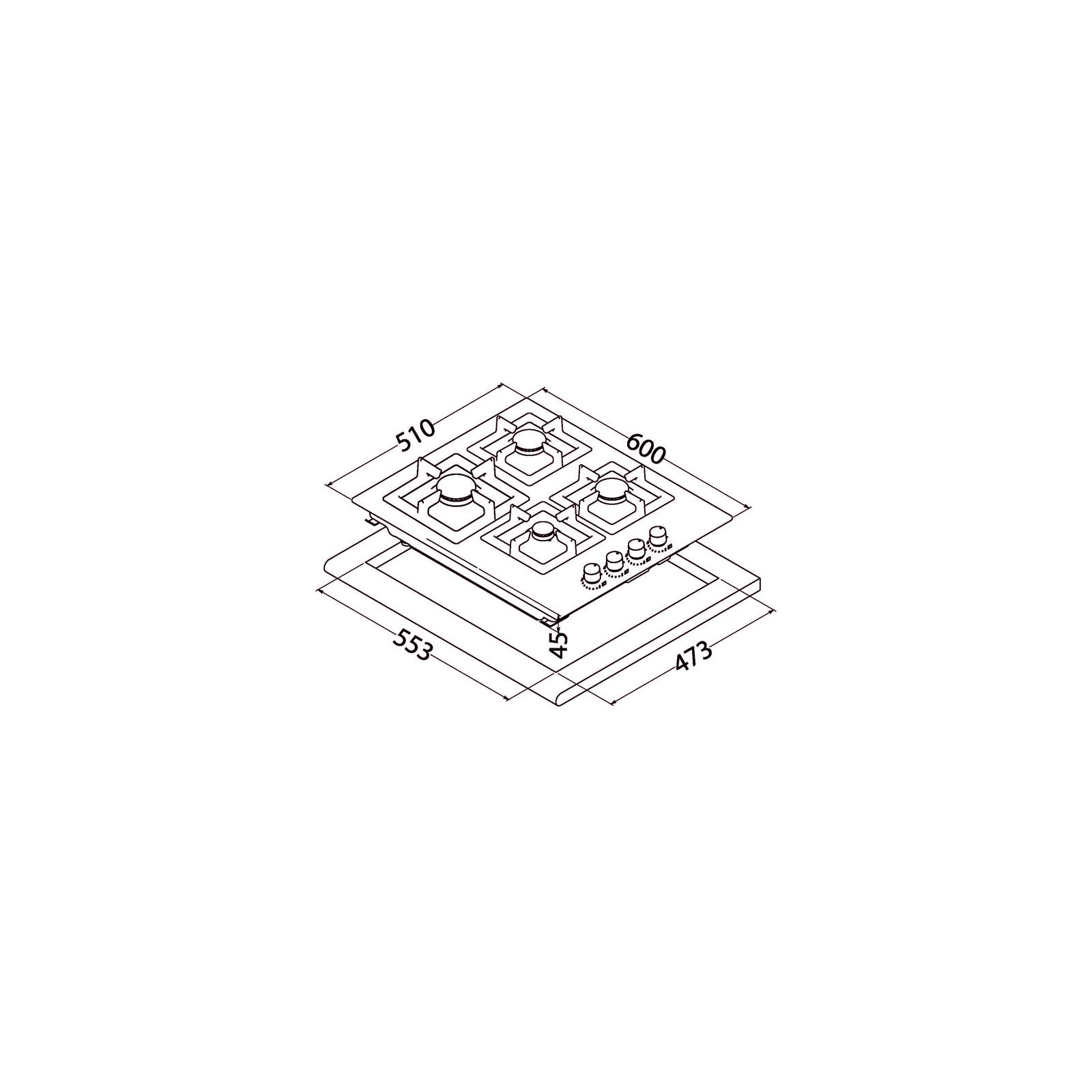 Варочная поверхность PERFELLI HGM 6431 INOX SLIM LINE изображение 9