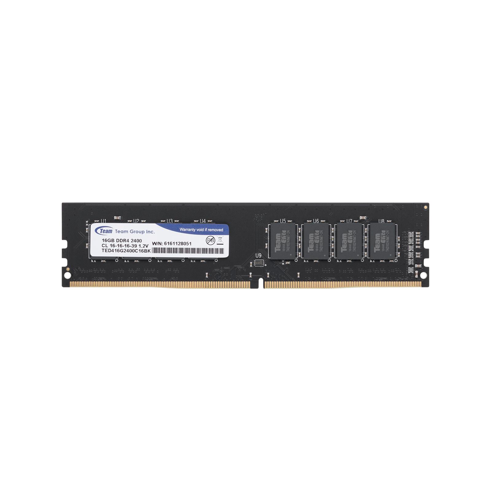 Модуль памяти для компьютера DDR4 32GB (2x16GB) 2400 MHz Team (TED432G2400C16DC01) изображение 2