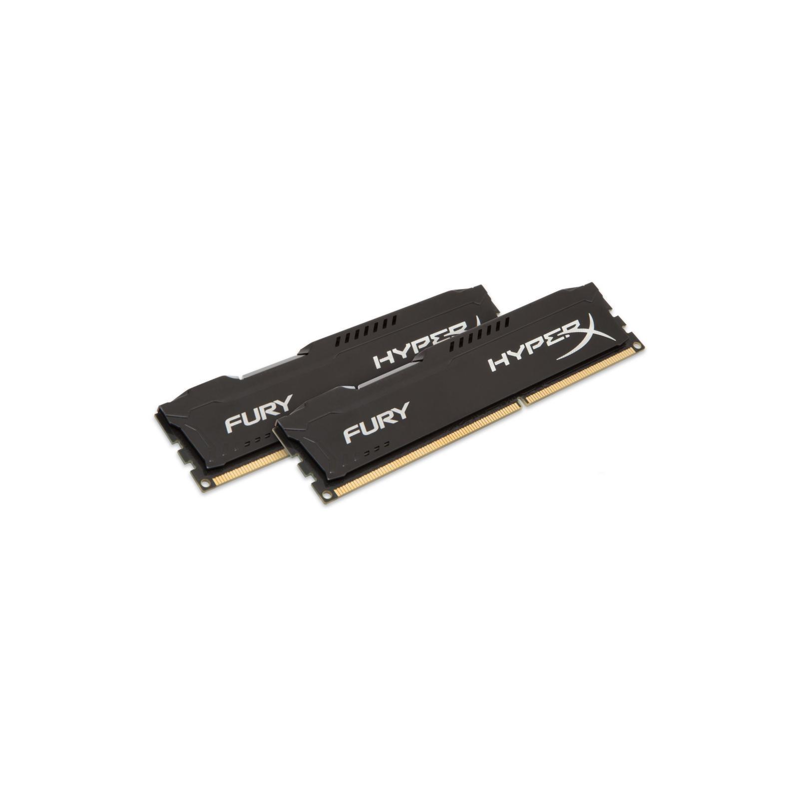 Модуль памяти для компьютера DDR4 16GB (2x8GB) 2933 MHz HyperX FURY Black HyperX (Kingston Fury) (HX429C17FB2K2/16) изображение 2