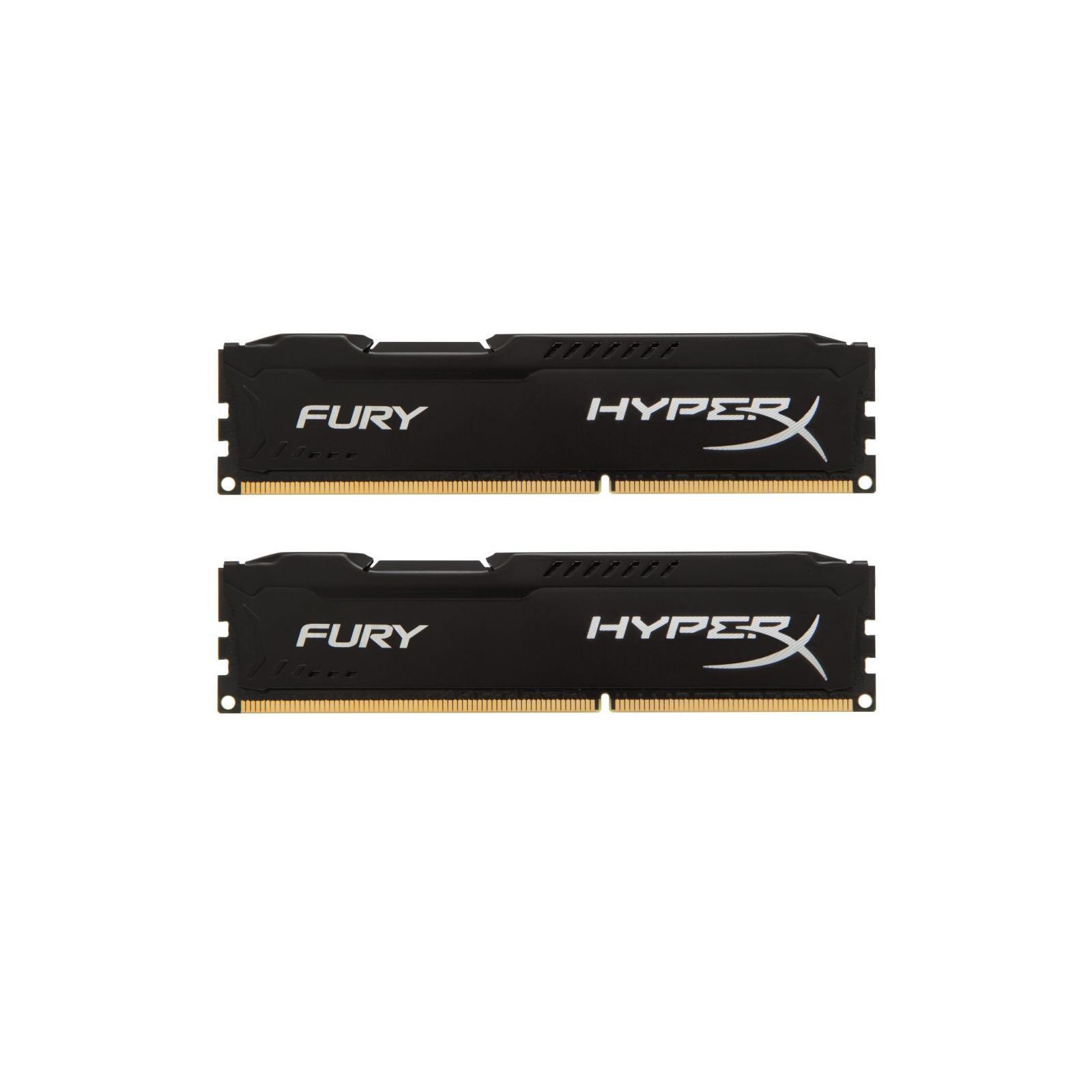 Модуль памяти для компьютера DDR4 16GB (2x8GB) 2933 MHz HyperX FURY Black HyperX (Kingston Fury) (HX429C17FB2K2/16)
