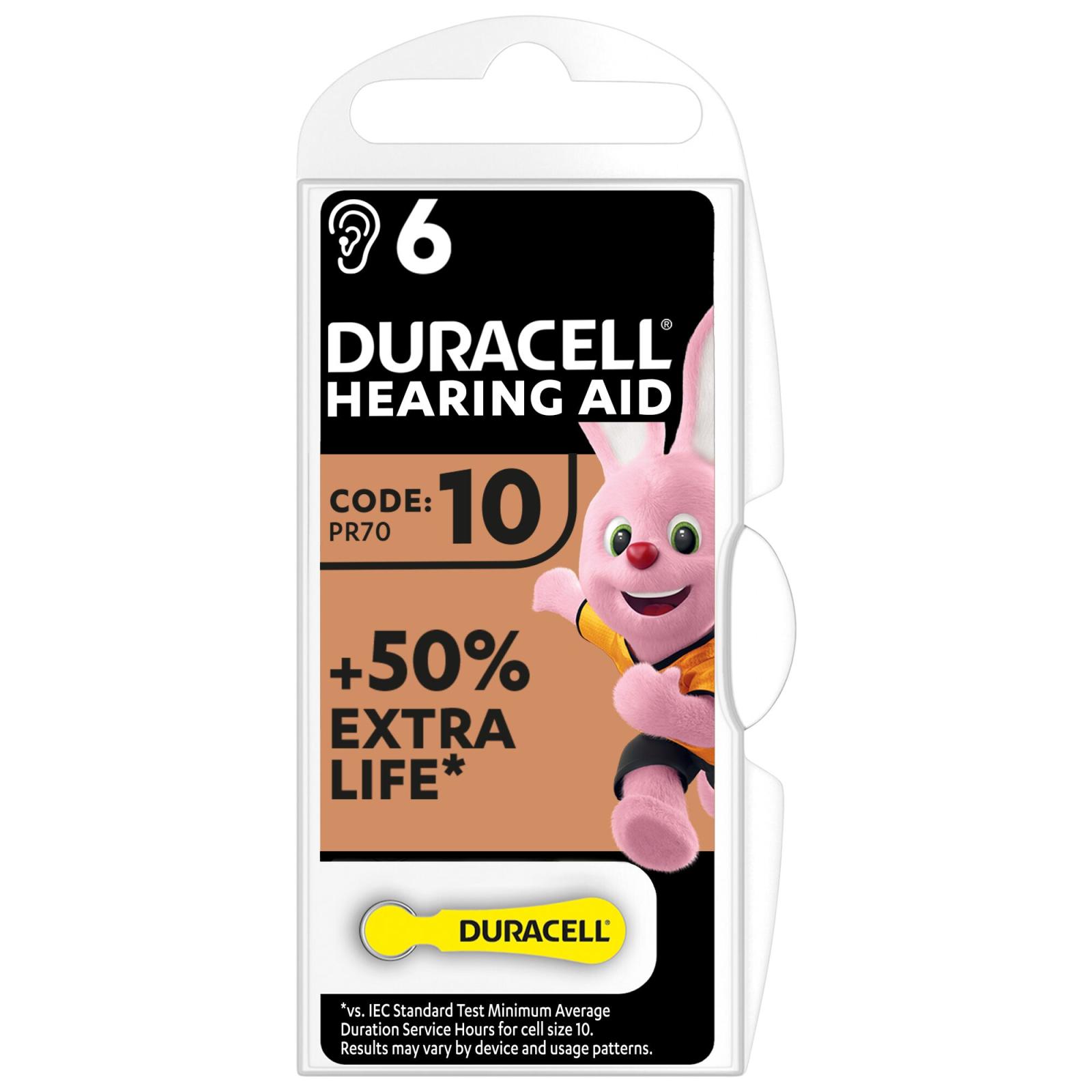 Батарейка Duracell 10 / P10 / PR536 Zinc Air (1.4V) * 6 (81546854)