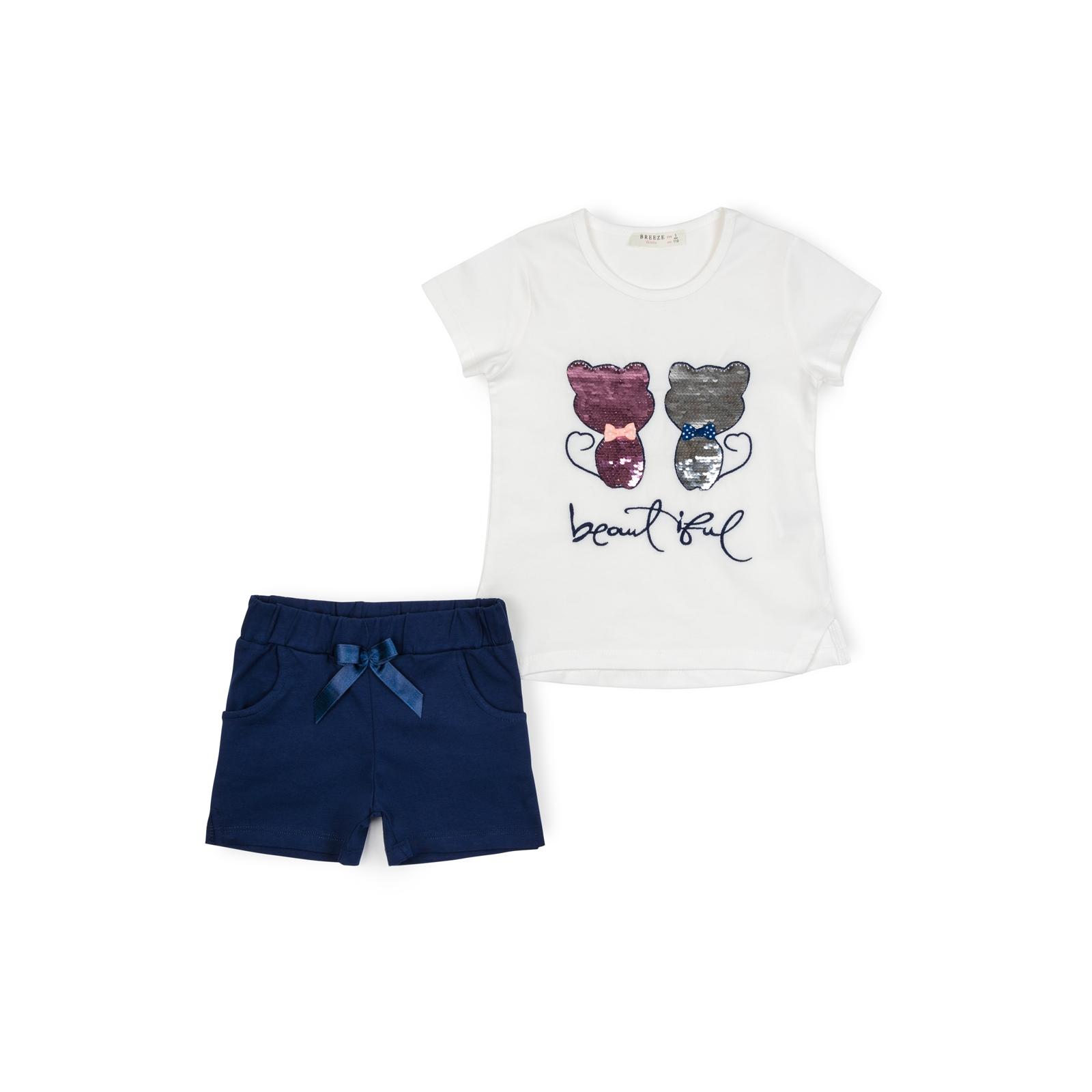 Набор детской одежды Breeze с котятами (10843-110G-beige)