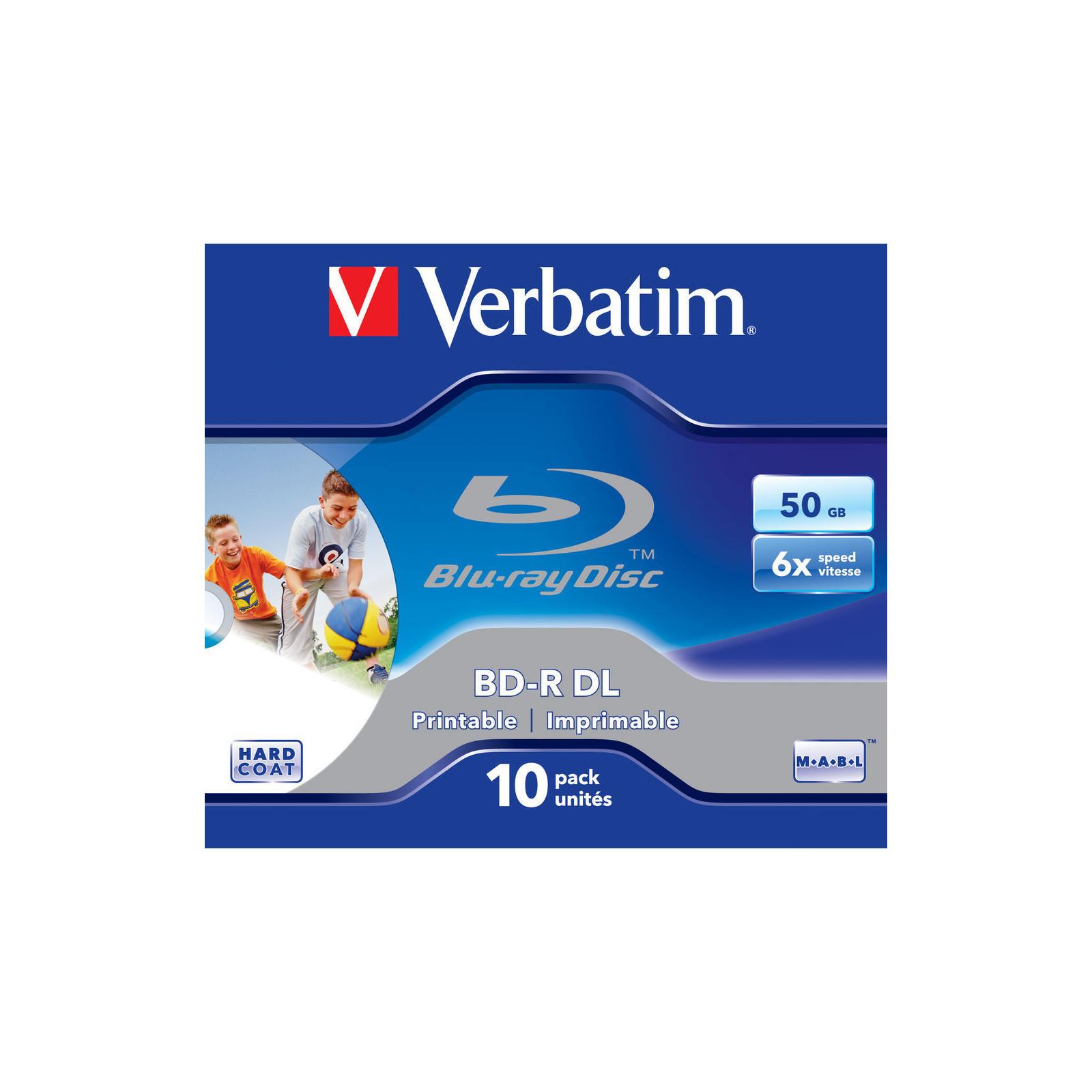 Диск BD Verbatim DL 50Gb 6x Jewel 10шт Wide Printabl (43736) изображение 2