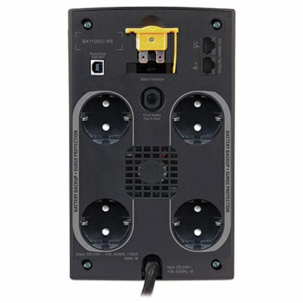 Источник бесперебойного питания APC Back-UPS RS 1100VA (BX1100CI-RS) изображение 2