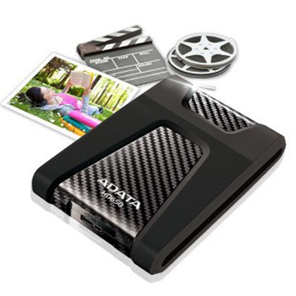 """Внешний жесткий диск 2.5"""" 500GB ADATA (AHD650-500GU3-CBK) изображение 4"""