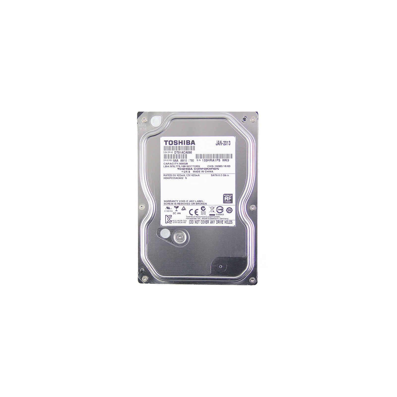 "Жесткий диск 3.5""  500Gb TOSHIBA (DT01ABA050V)"