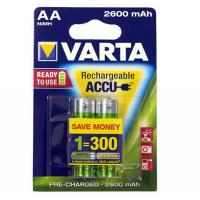 Аккумулятор Varta AA Rechargeable Accu 2600mAh * 2 NI-MH (READY 2 USE) (05716101402)