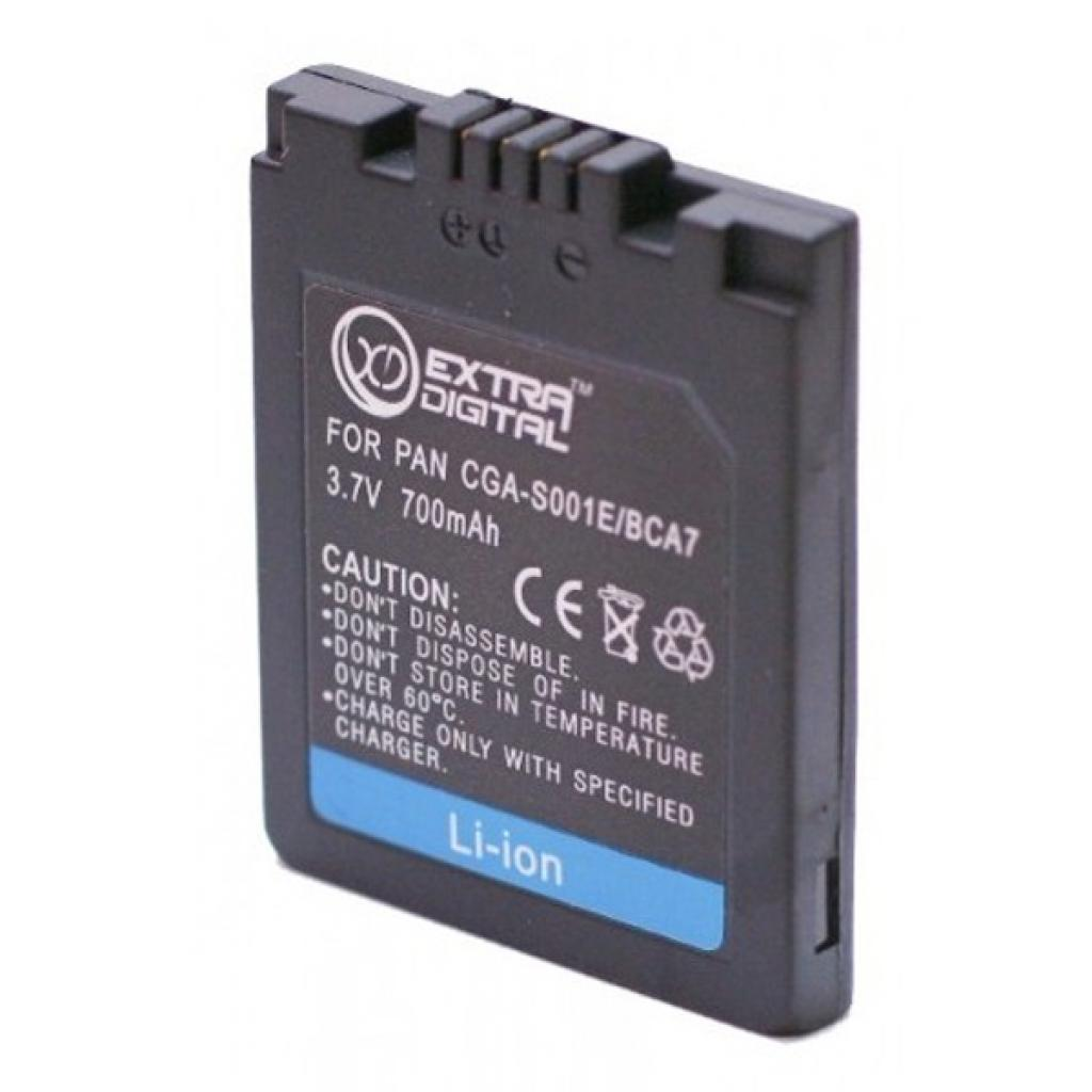 Аккумулятор к фото/видео EXTRADIGITAL Panasonic S001E, DMW-BCA7 (DV00DV1096) изображение 2