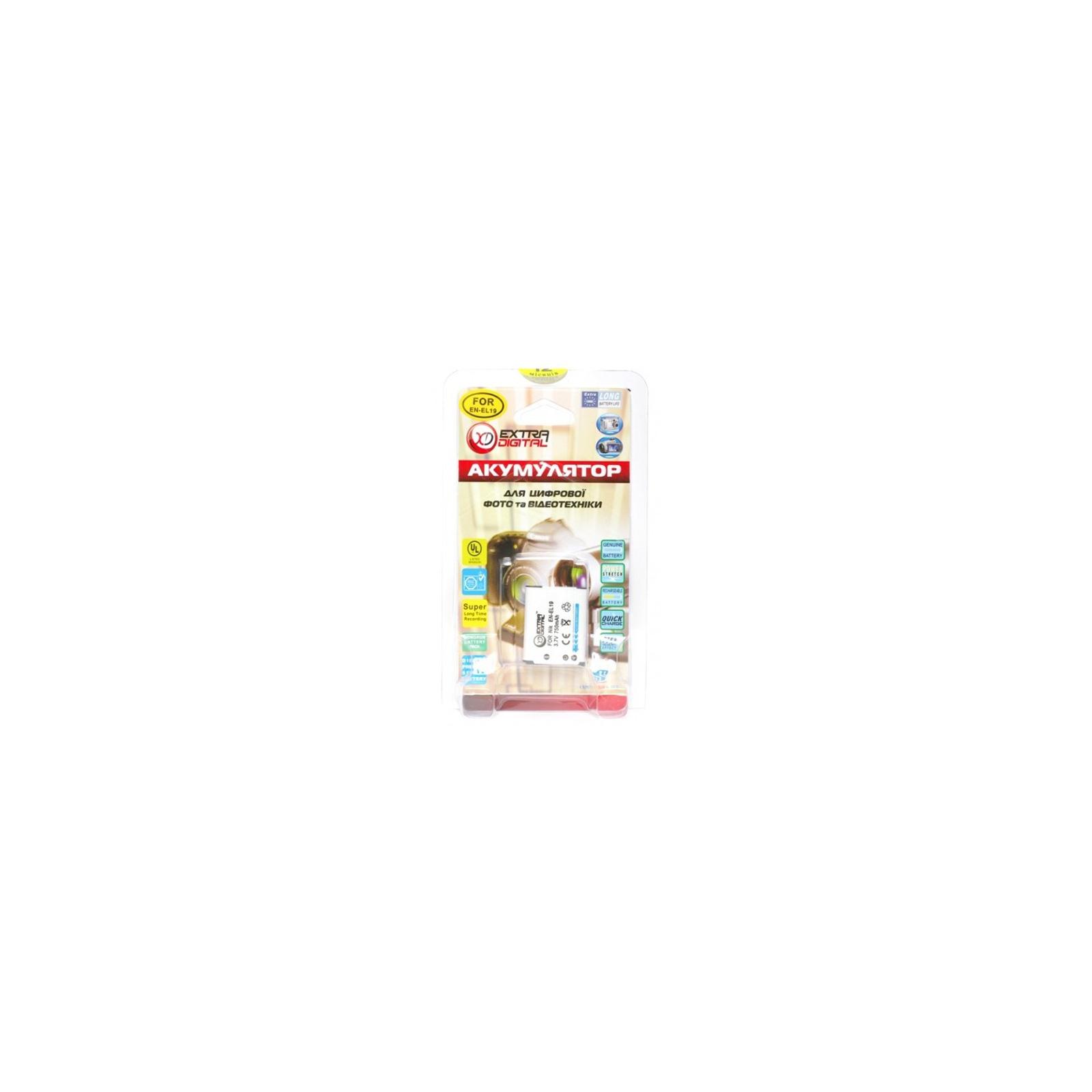 Аккумулятор к фото/видео EXTRADIGITAL Nikon EN-EL19 (BDN2525) изображение 3