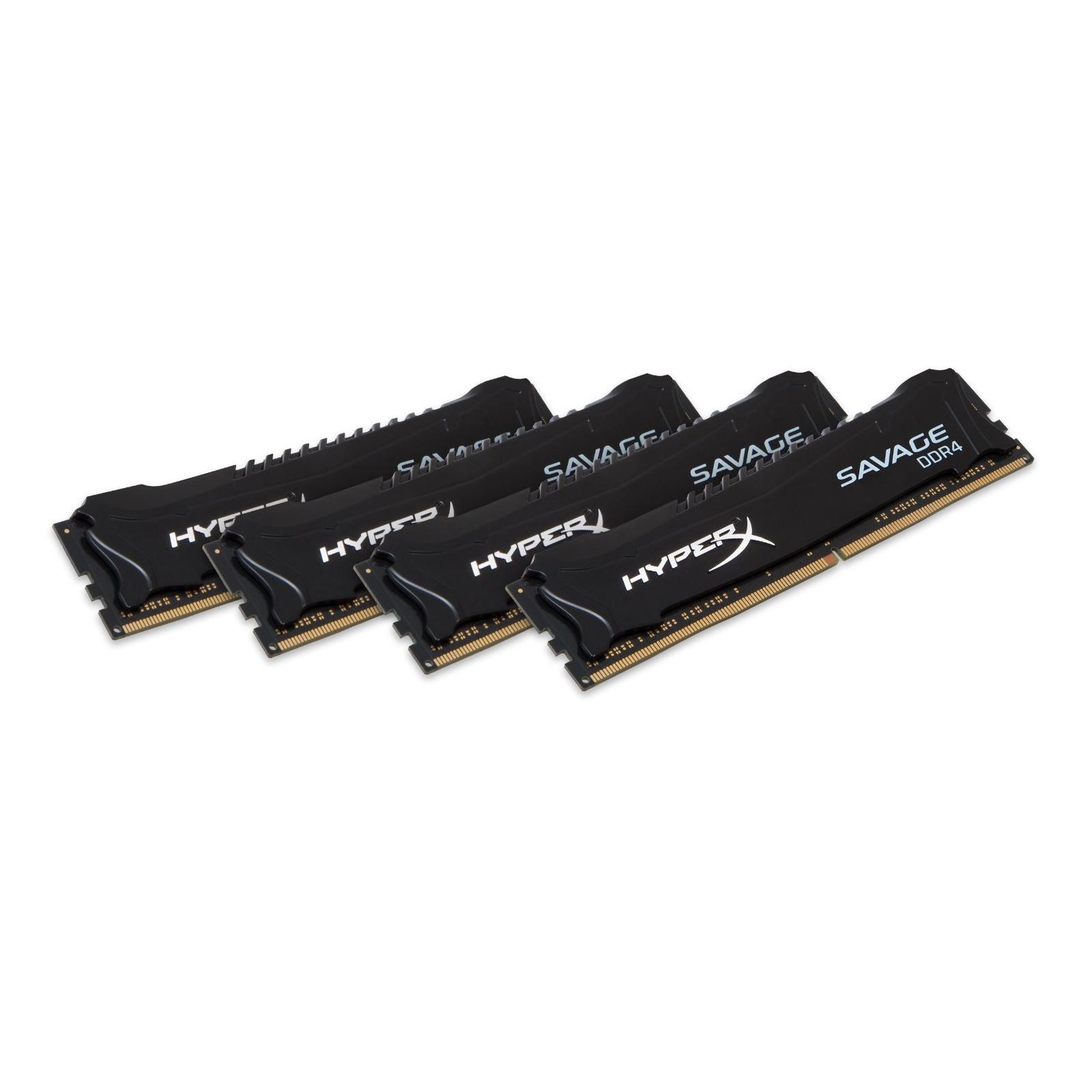 Модуль памяти для компьютера DDR4 32GB (4x8GB) 2400 MHz Savage Blak Kingston (HX424C12SB2K4/32) изображение 2
