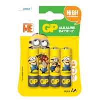 Батарейка GP AA LR6 Alcaline Minions * 4 (GP15AUYOY-2UE4)