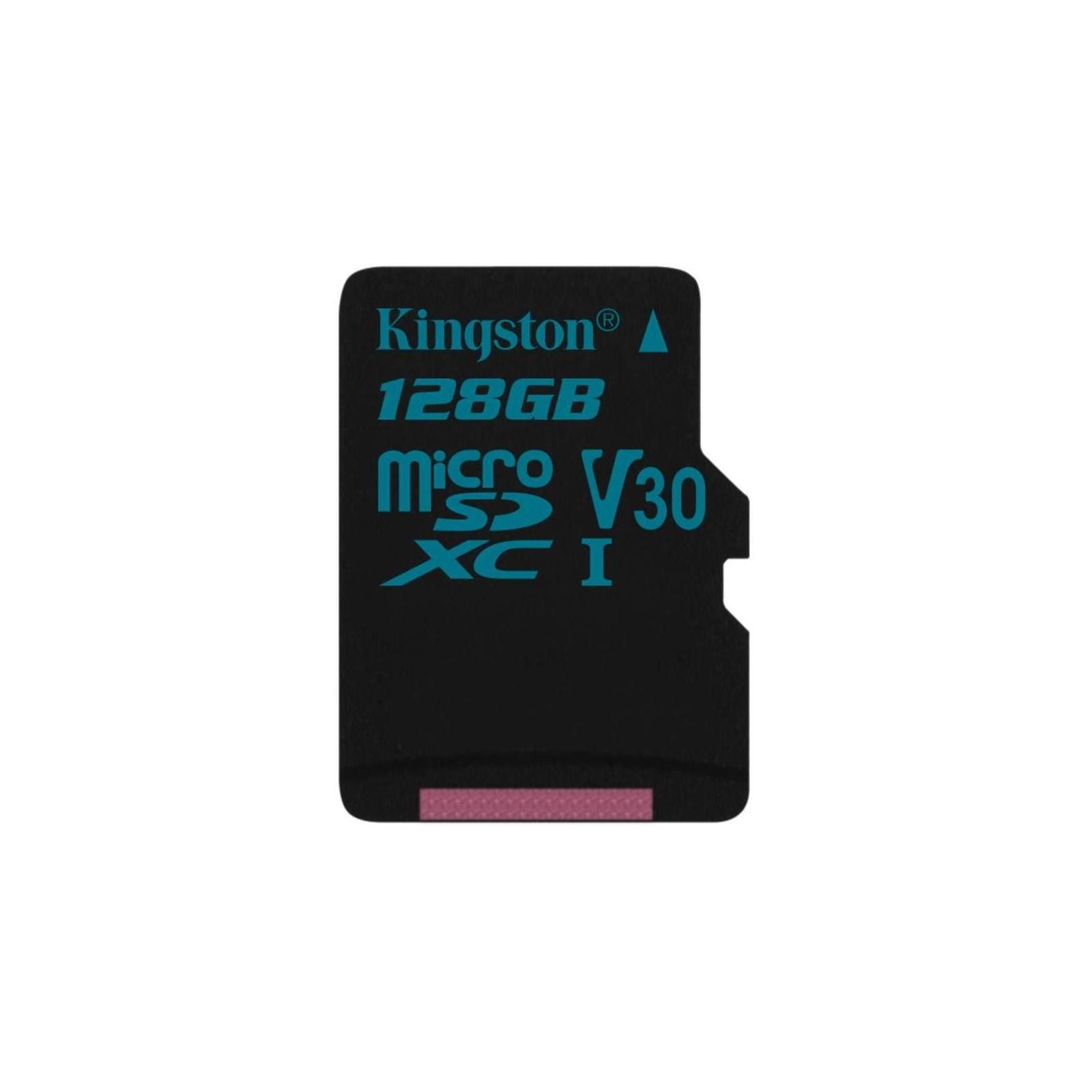 Карта памяти Kingston 128GB microSD class 10 UHS-I U3 Canvas Go (SDCG2/128GBSP)