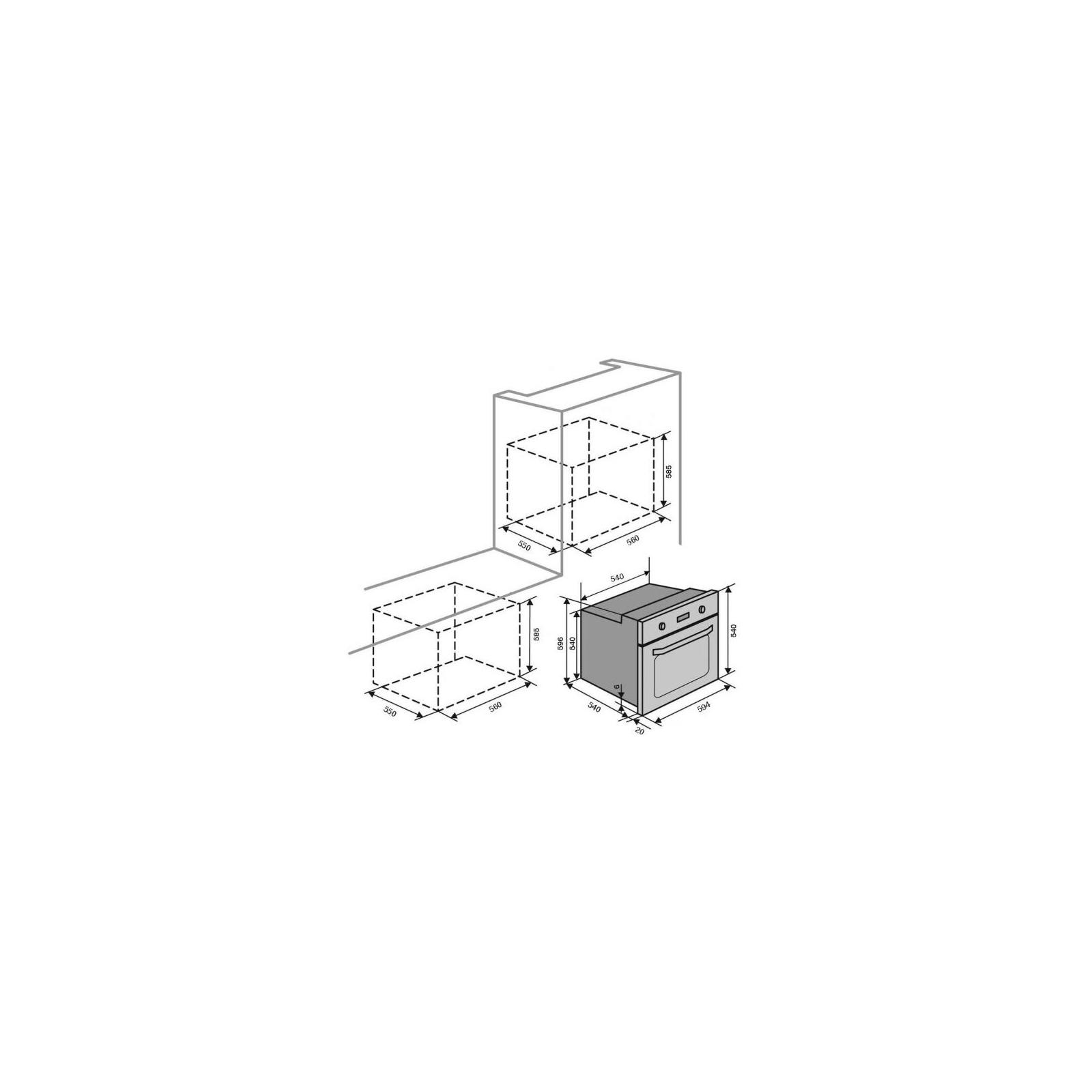 Духовой шкаф Ventolux NERO изображение 10