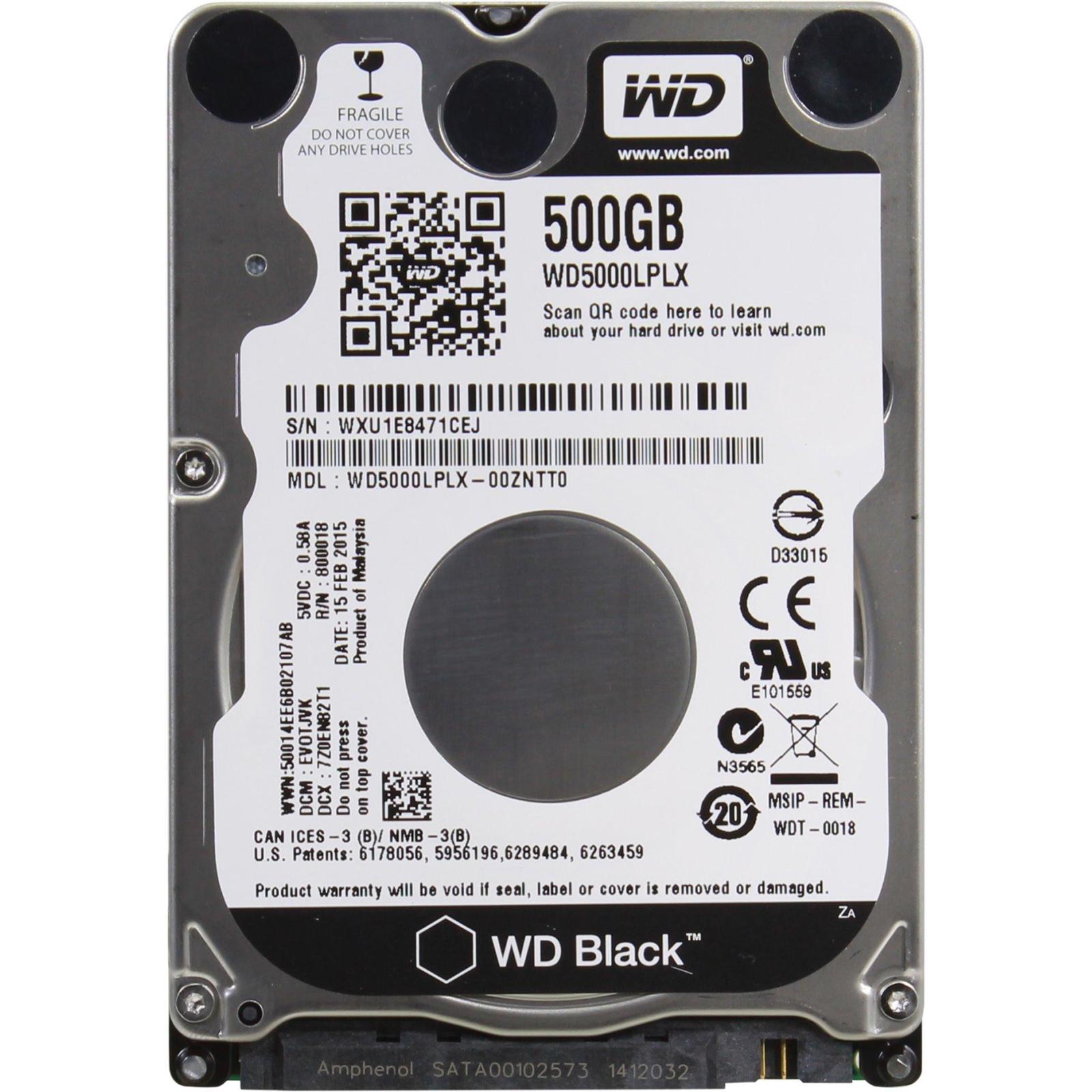 """Жесткий диск для ноутбука 2.5"""" 500GB WD (# WD5000LPLX-FR#)"""