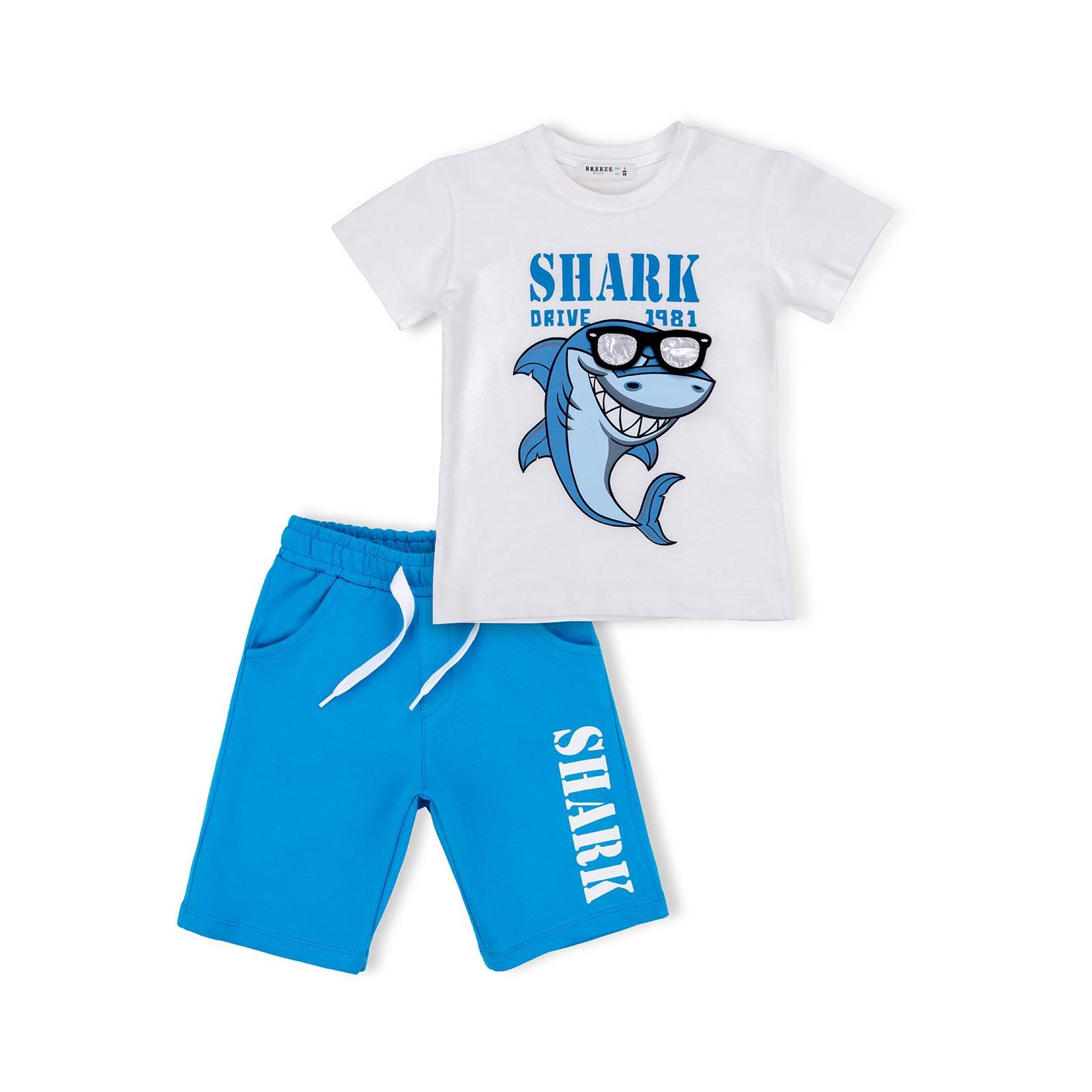 Набор детской одежды Breeze с акулой в очках (10931-98B-beige)