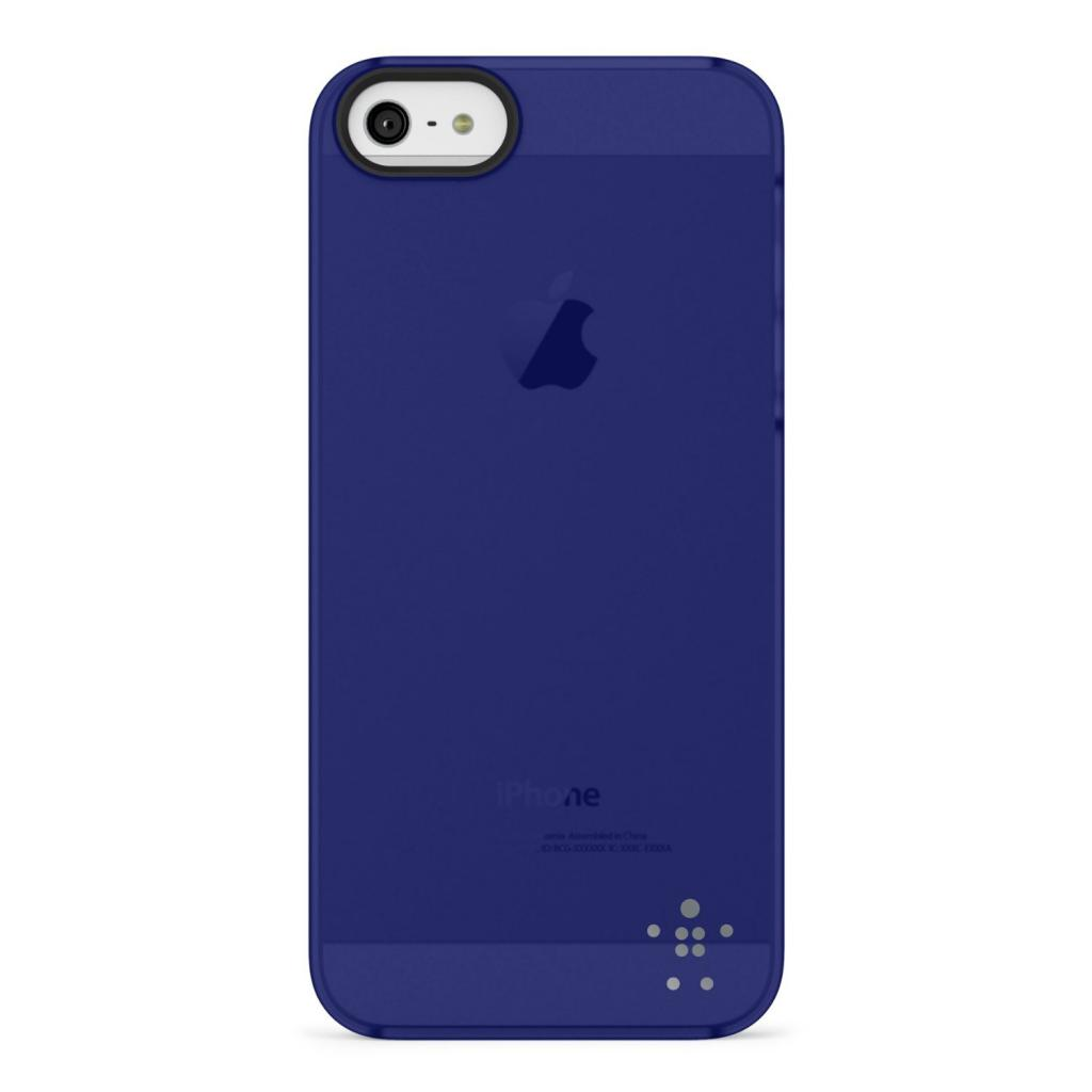 Чехол для моб. телефона Belkin iPhone 5/5s Shield Sheer Luxe/blue (F8W162vfC03)