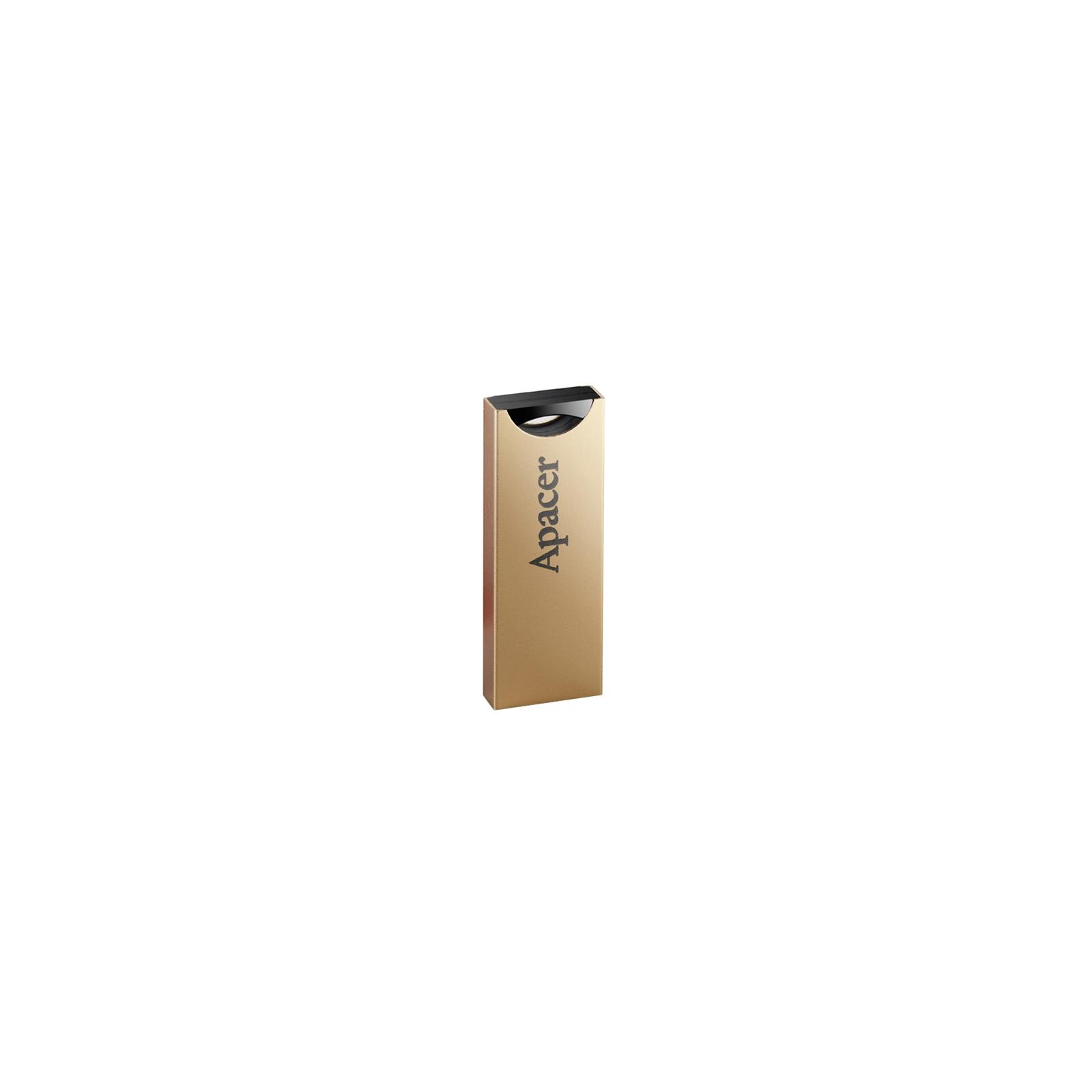 USB флеш накопитель 16GB AH133 Champagne Gold RP USB2.0 Apacer (AP16GAH133C-1) изображение 2
