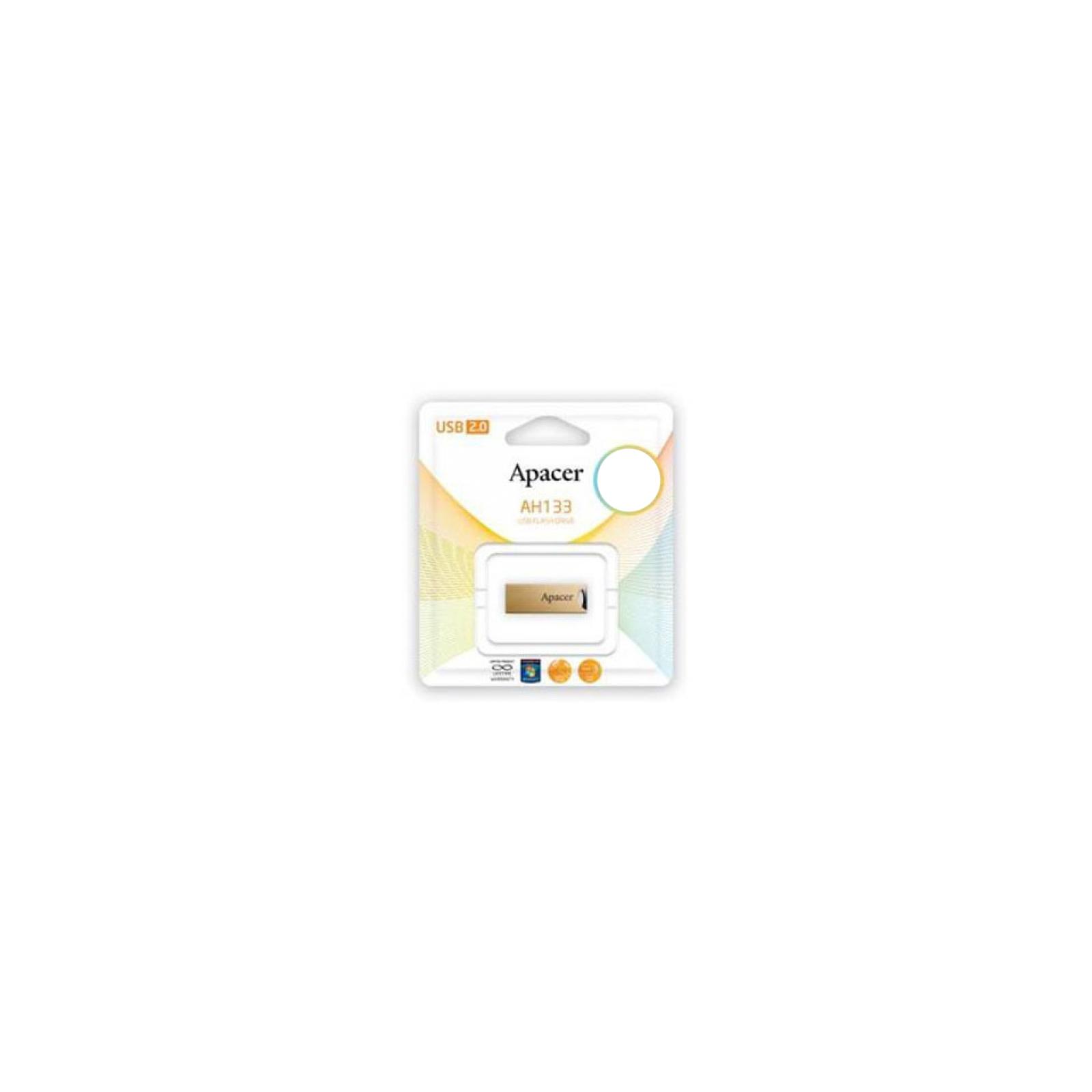 USB флеш накопитель 16GB AH133 Champagne Gold RP USB2.0 Apacer (AP16GAH133C-1) изображение 6