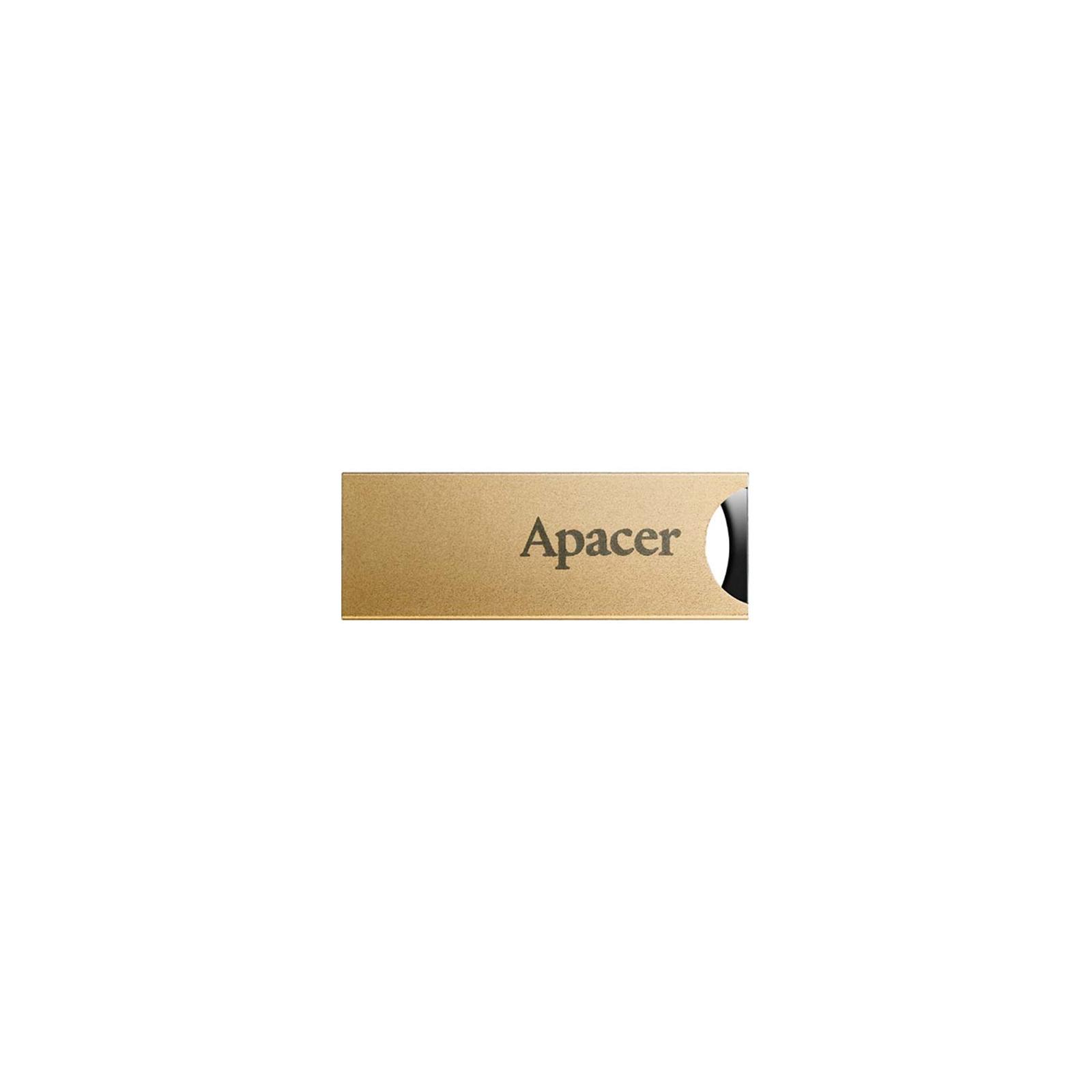 USB флеш накопитель 16GB AH133 Champagne Gold RP USB2.0 Apacer (AP16GAH133C-1)