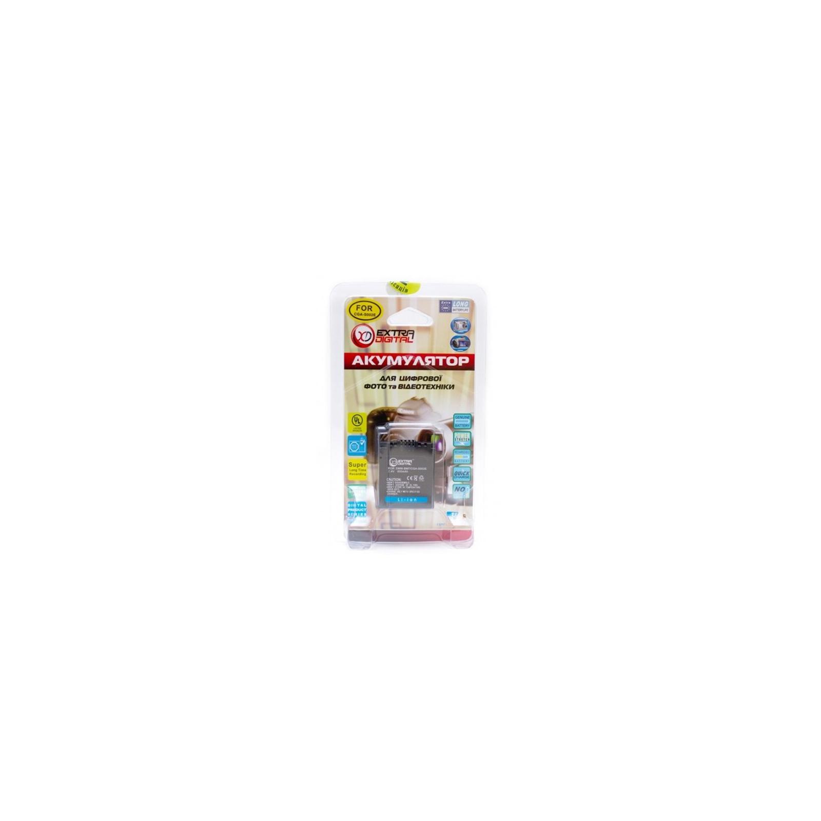 Аккумулятор к фото/видео EXTRADIGITAL Panasonic CGA-S002, DMW-BM7 (BDP2551) изображение 3