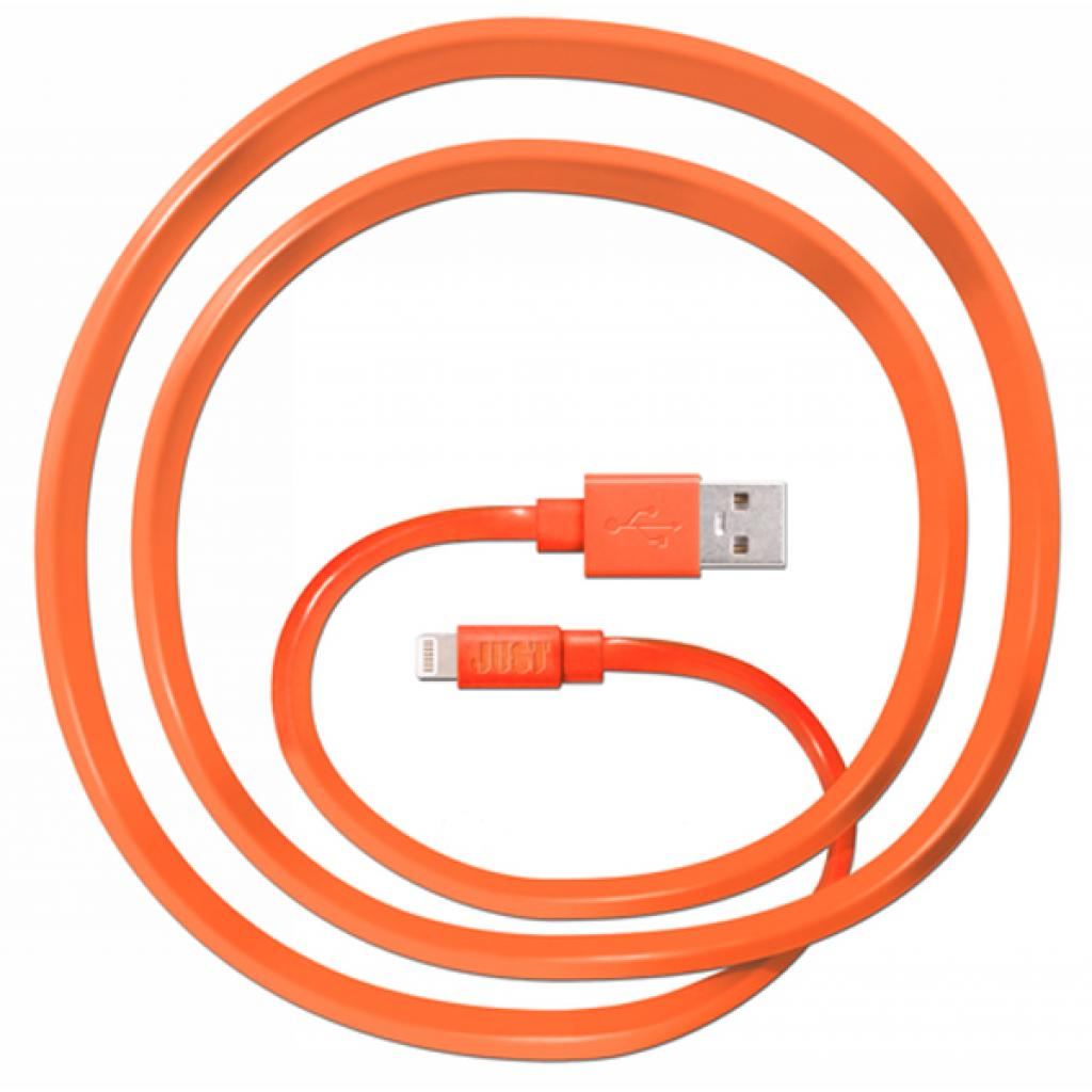 Дата кабель JUST Freedom Lightning USB Cable Orange (LGTNG-FRDM-RNG) изображение 1