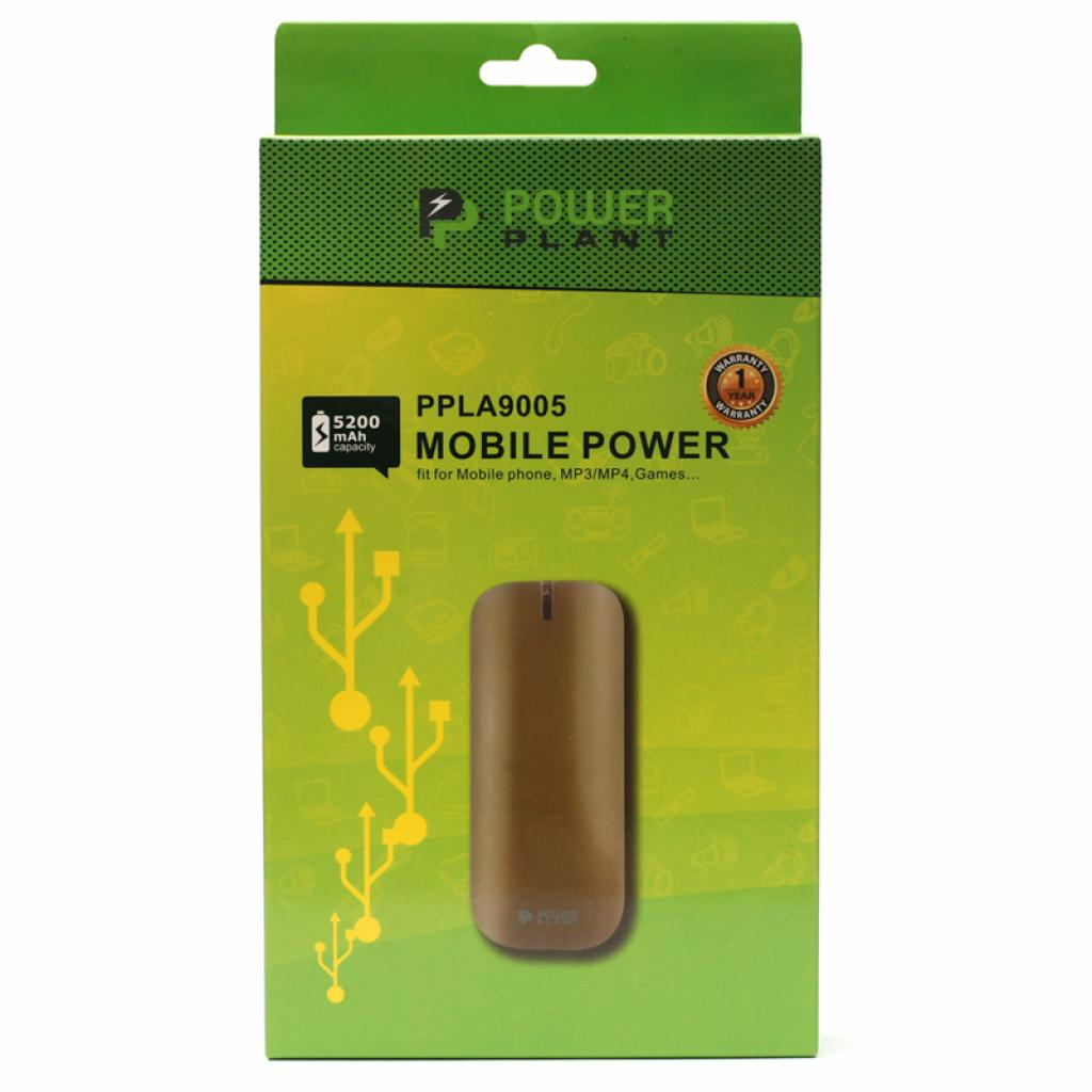 Батарея универсальная PowerPlant PB-LA9005 5200mAh 1*USB/1.0A (PPLA9005) изображение 4