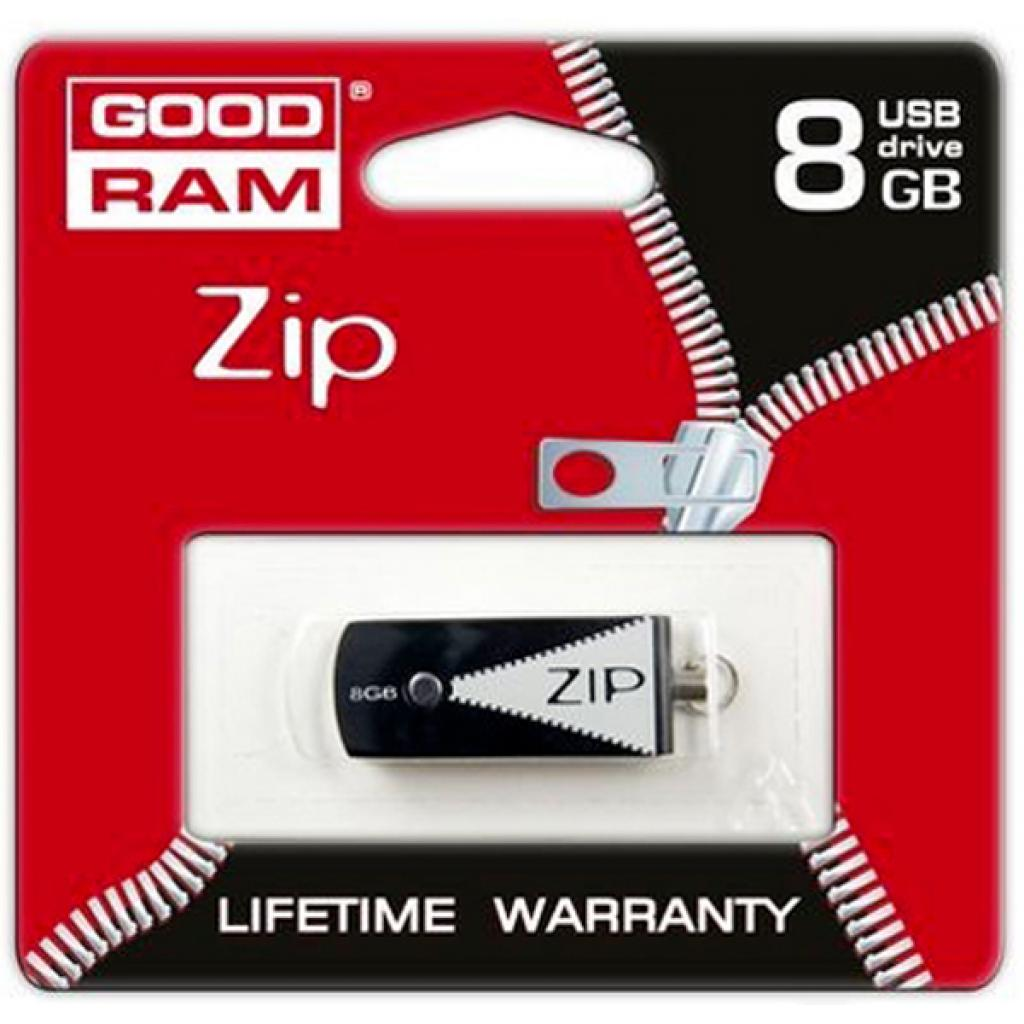 USB флеш накопитель GOODRAM 8GB Zip Black USB 2.0 (PD8GH2GRZIKR9) изображение 6