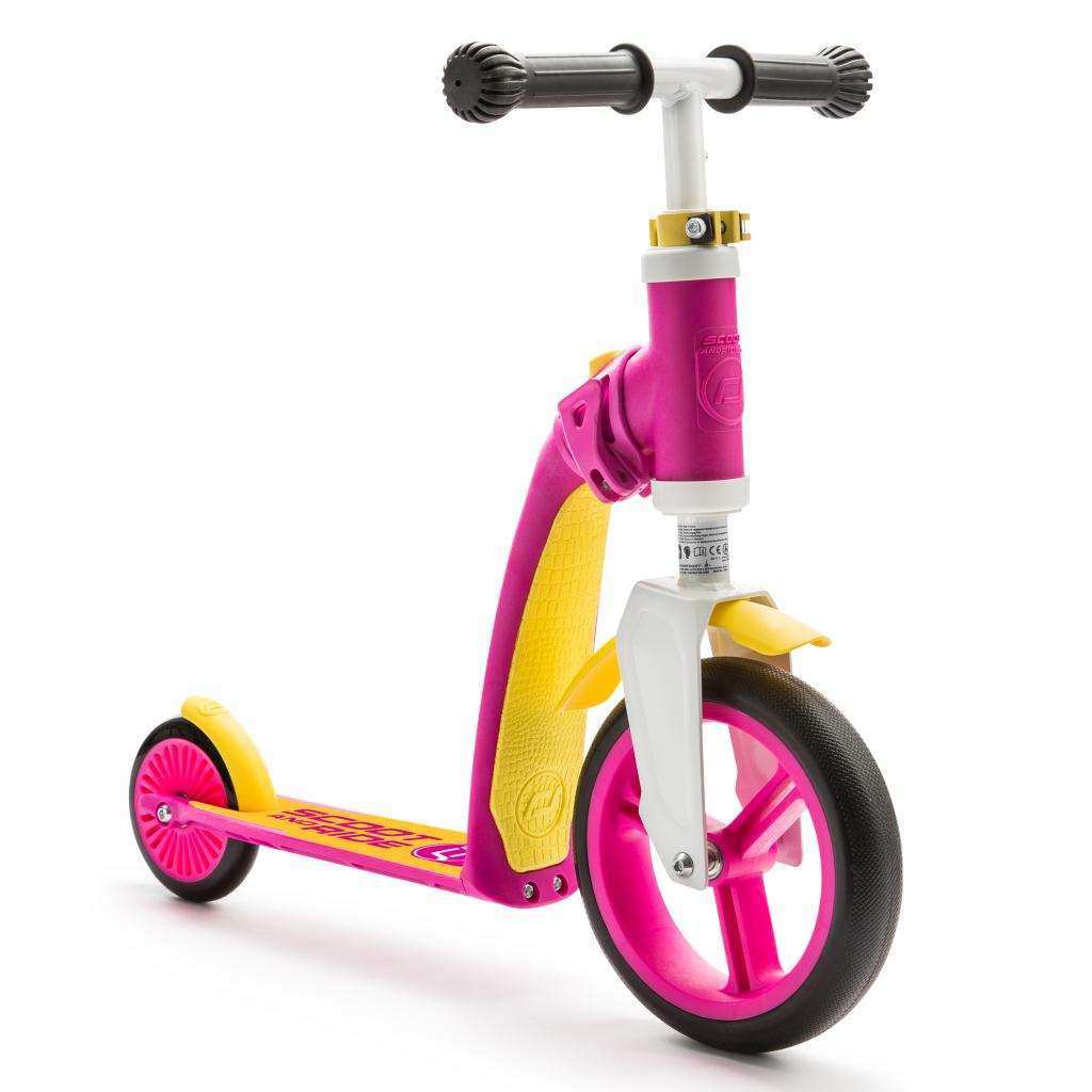 Скутер Scoot&Ride Highwaybaby розово-желтый (SR-216271-PINK-YELLOW) изображение 2