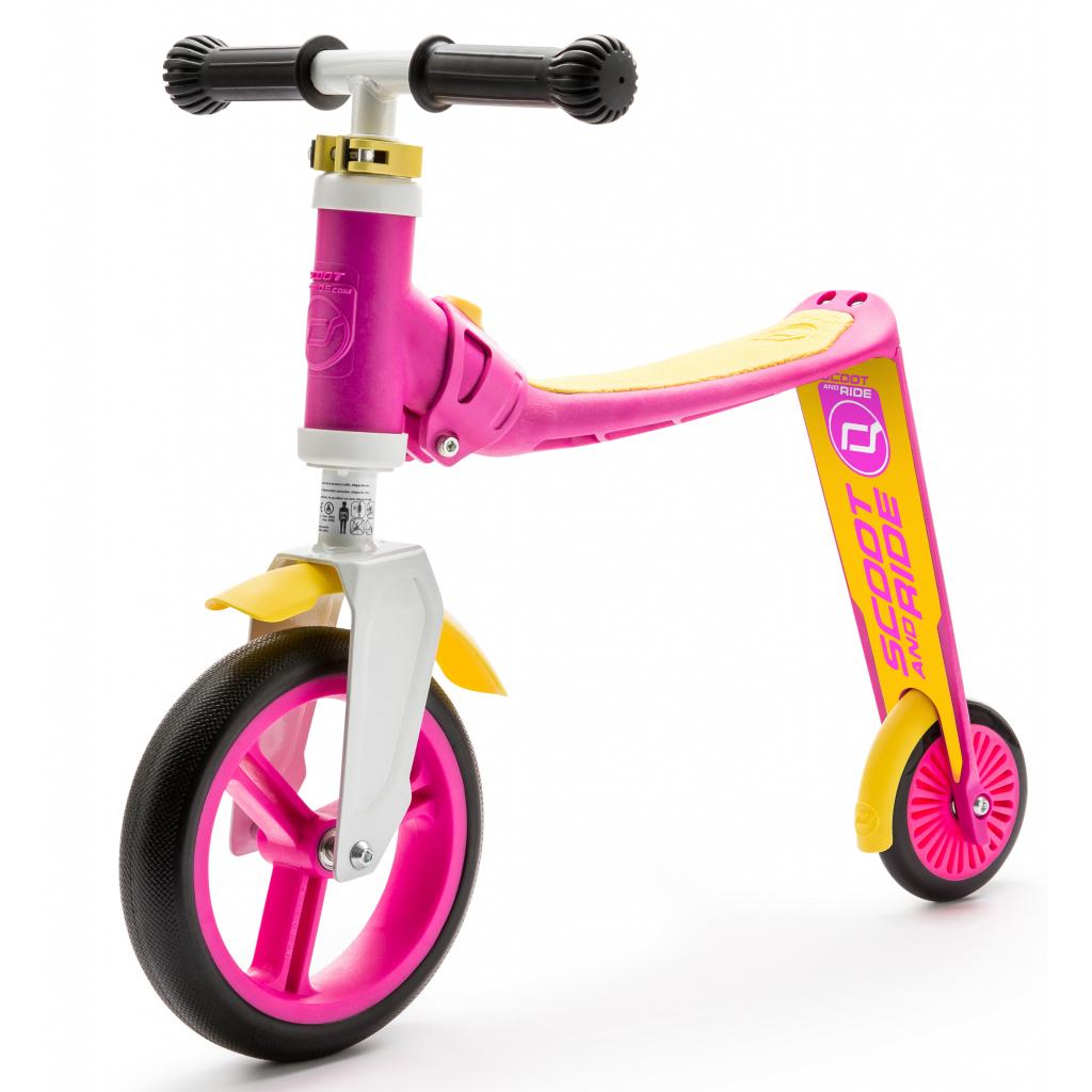 Скутер Scoot&Ride Highwaybaby розово-желтый (SR-216271-PINK-YELLOW)