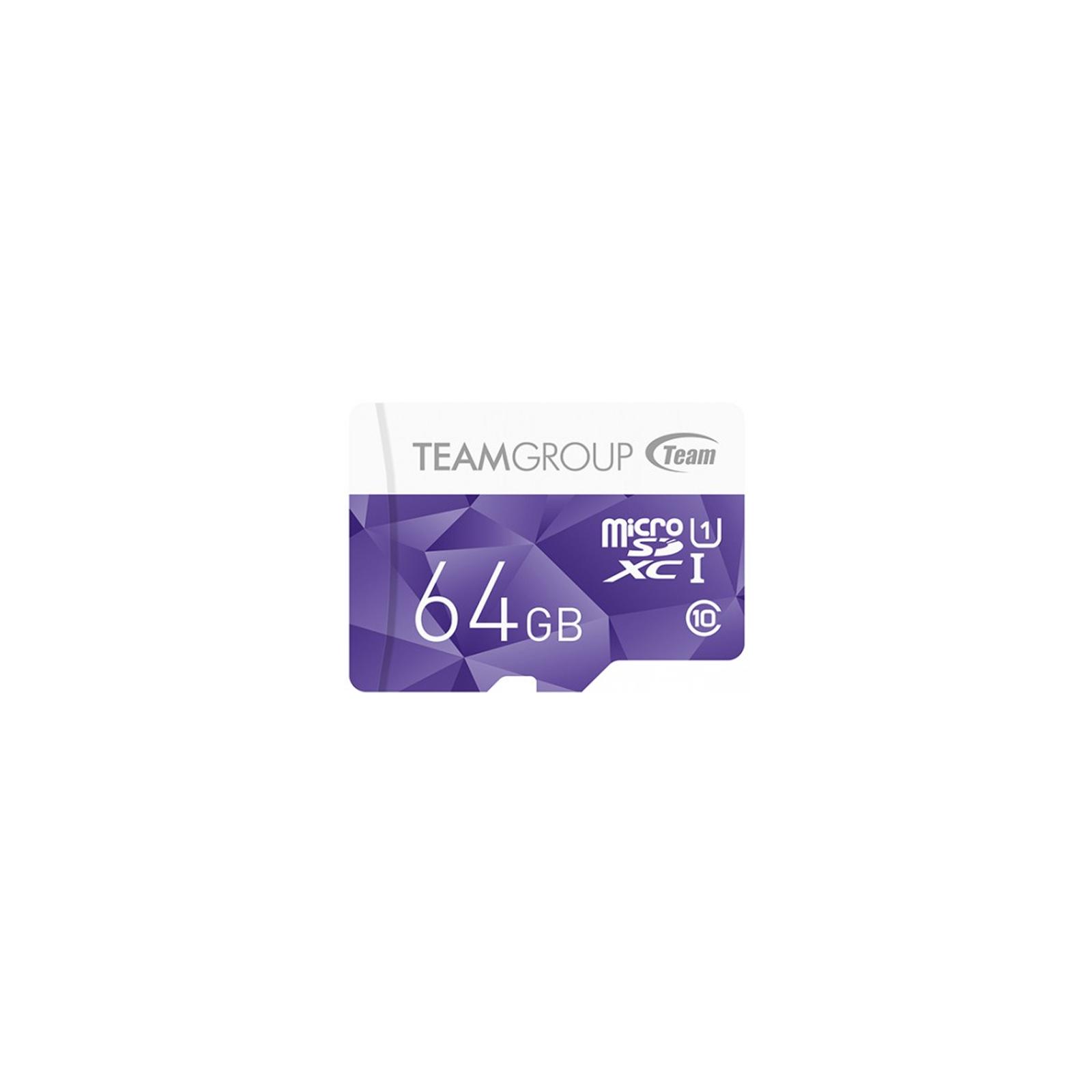 Карта памяти Team 64GB microSD Class10 UHS-I (TCUSDX64GUHS02)