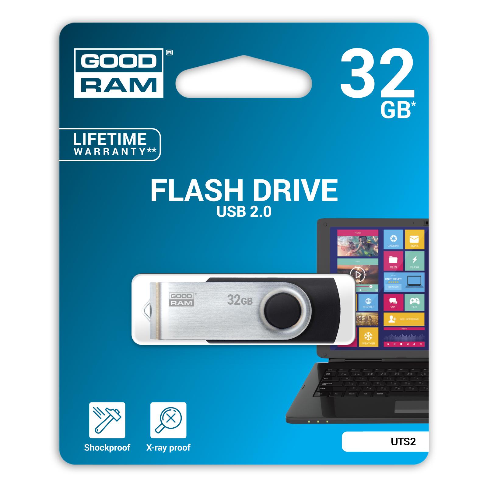 USB флеш накопитель Goodram 64GB Twister Black USB 2.0 (UTS2-0640K0R11) изображение 2