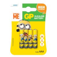 Батарейка GP AAA LR03 Alcaline Minions * 4 (GP24AUYOY-2UE4)