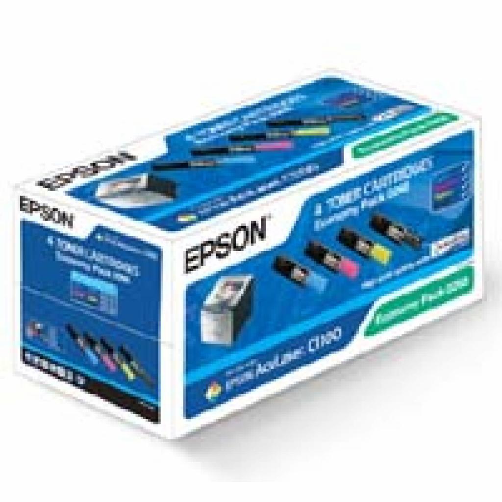 Картридж EPSON AcuLaser C1100 Bundle (C/M/Y/Bk) (C13S050268)
