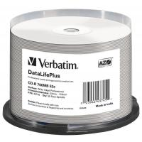 Диск CD Verbatim 700Mb 52x Cake box Printable (43745)