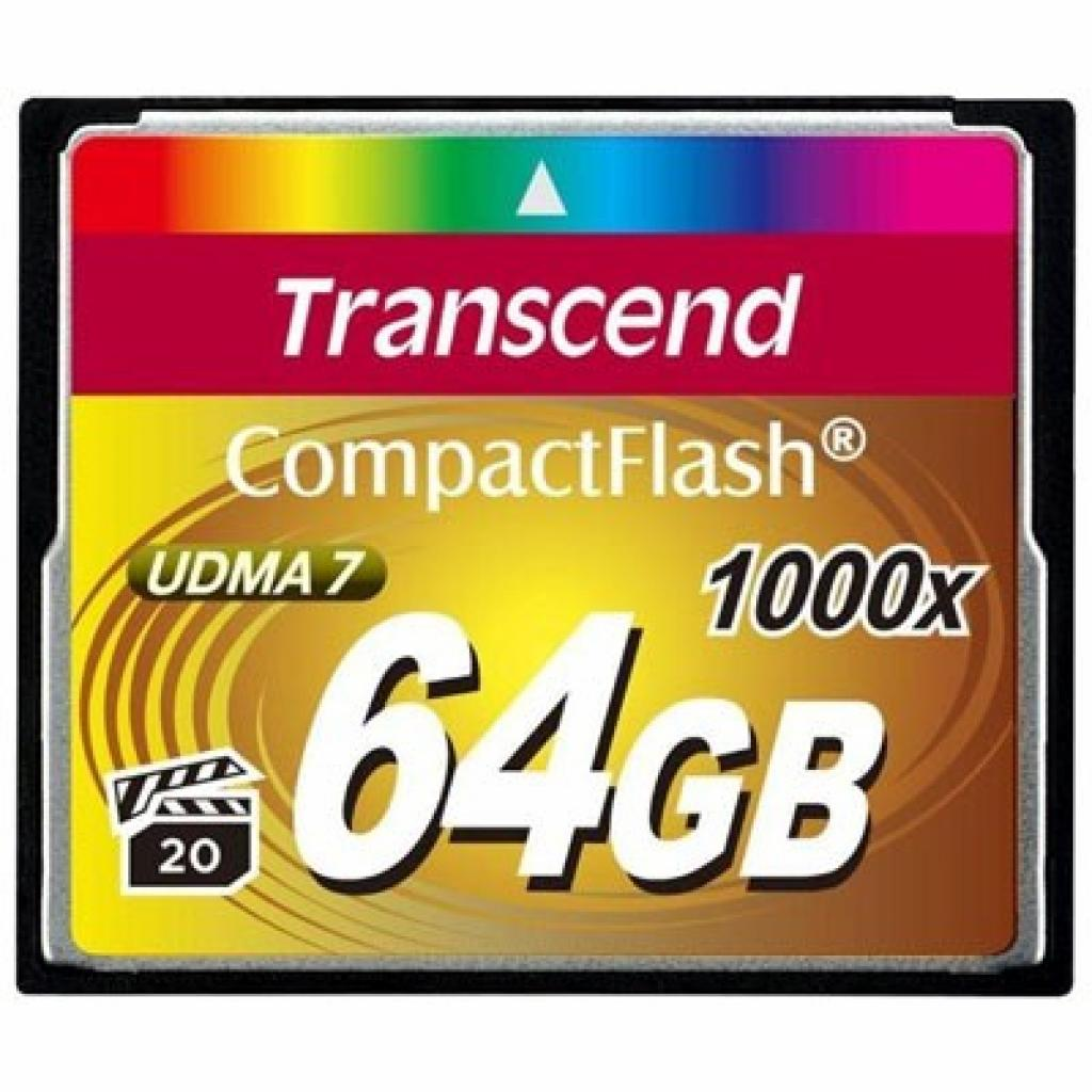 Карта памяти Transcend 64Gb Compact Flash 1000x (TS64GCF1000)